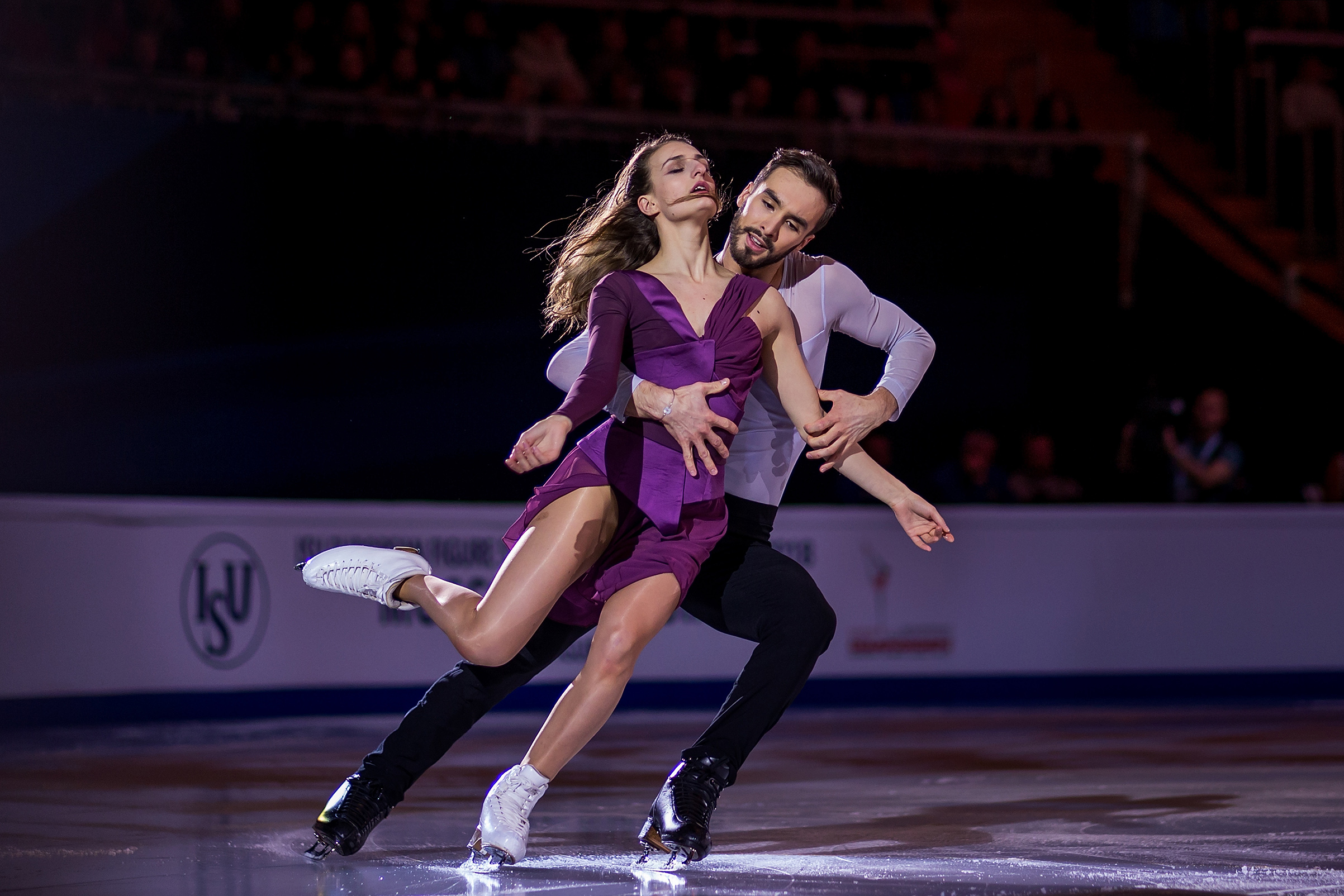 Gabriella Papadakis and Guillaume Cizeron of France perform in the Gala Exhibition during day five of the European Figure Skating Championships at Megasport Arena, in Moscow, Russia, on Jan. 21, 2018. Joosep Martinson—ISU/Getty Images