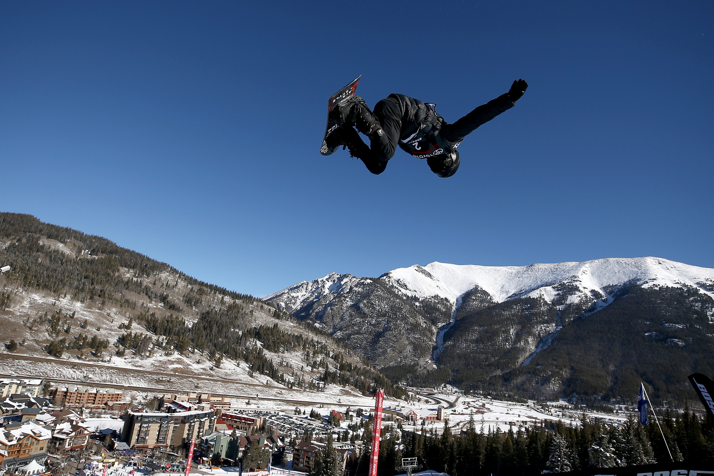 Olympic athlete Shaun White of the United States competes in the finals of the FIS Snowboard World Cup 2018 Men's Snowboard Halfpipe in Copper Mountain, Colo., on Dec. 9, 2017. Sean M. Haffey—Getty Images