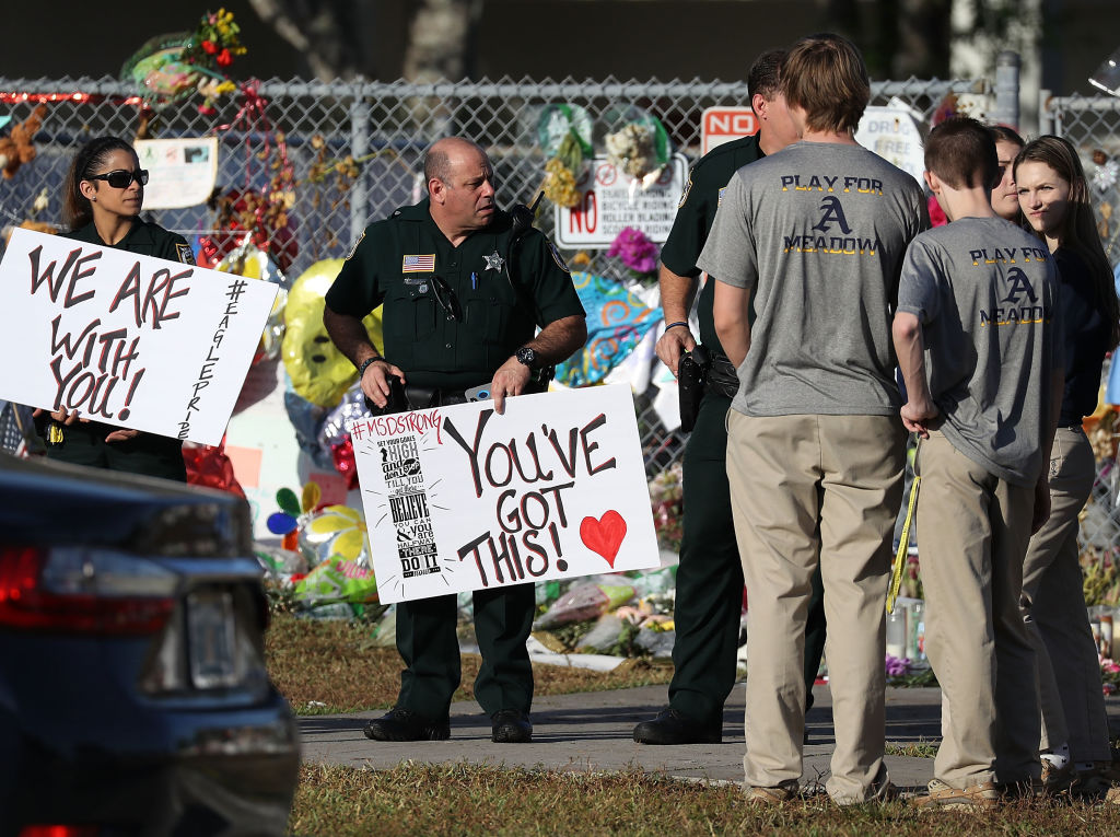 <> on February 28, 2018 in Parkland, Florida.