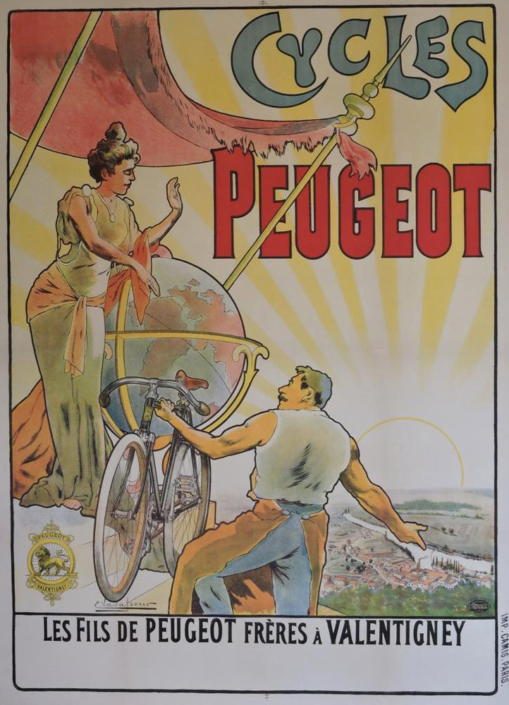 1898 French advertising poster for Peugeot cycles