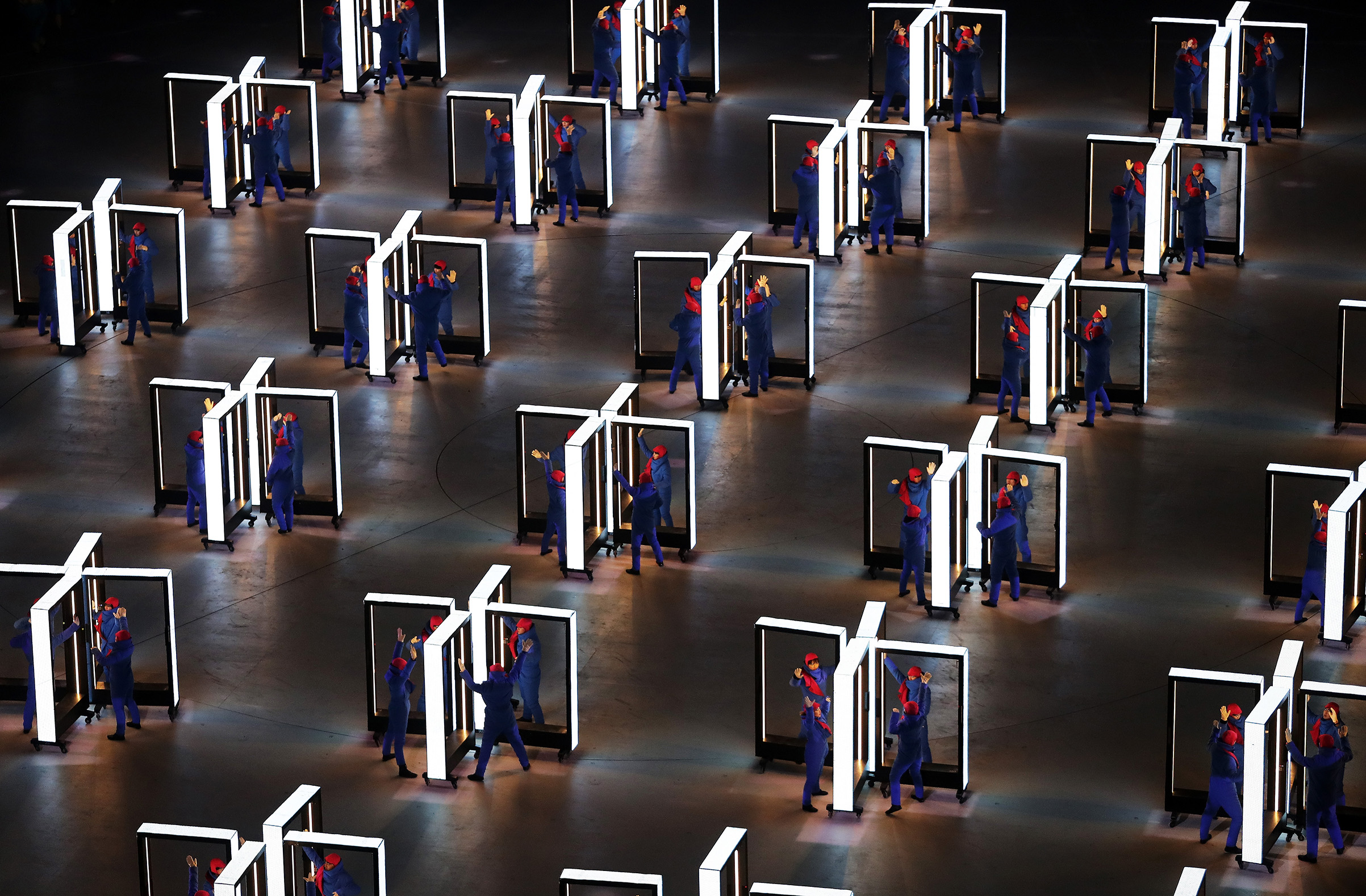 Performers entertain during the Opening Ceremony of the PyeongChang 2018 Winter Olympic Games.