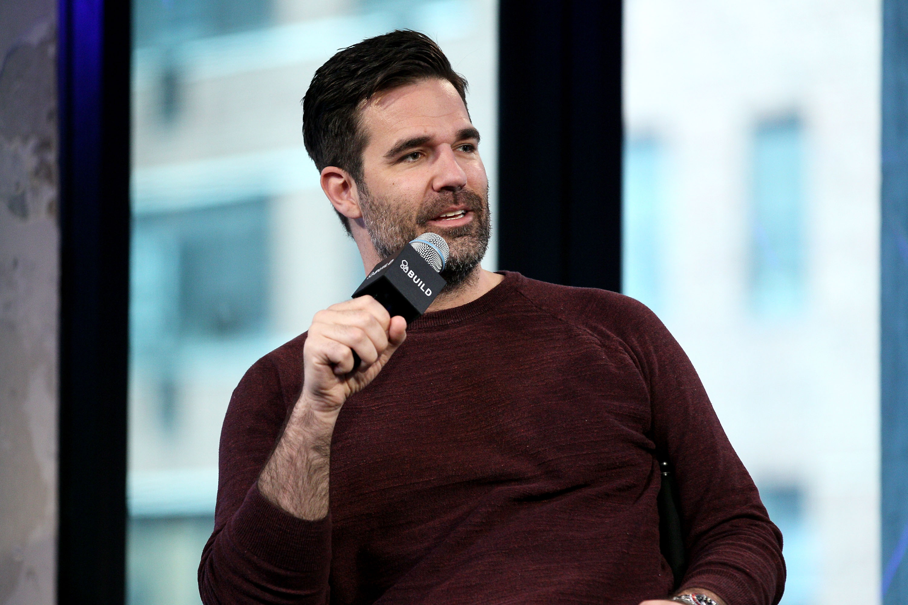 Rob Delaney attends AOL Build to discuss  Catastrophe  Season 2 at AOL Studios In New York on April 6, 2016 in New York City.