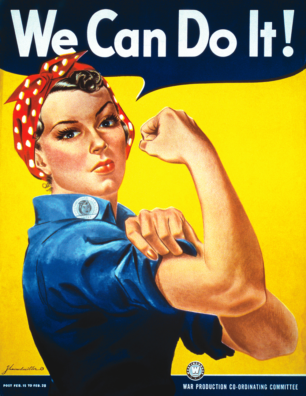 J. Howard Miller's 'We Can Do It' poster from 1942