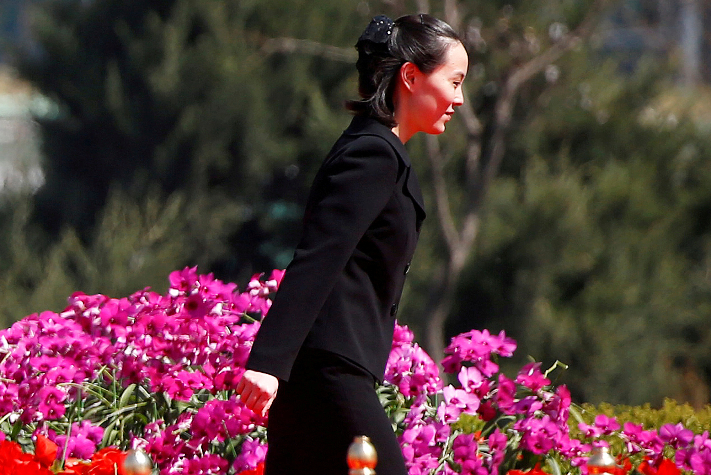 Kim Yo Jong, sister of North Korean leader Kim Jong Un, in Pyongyang, North Korea April 13, 2017.