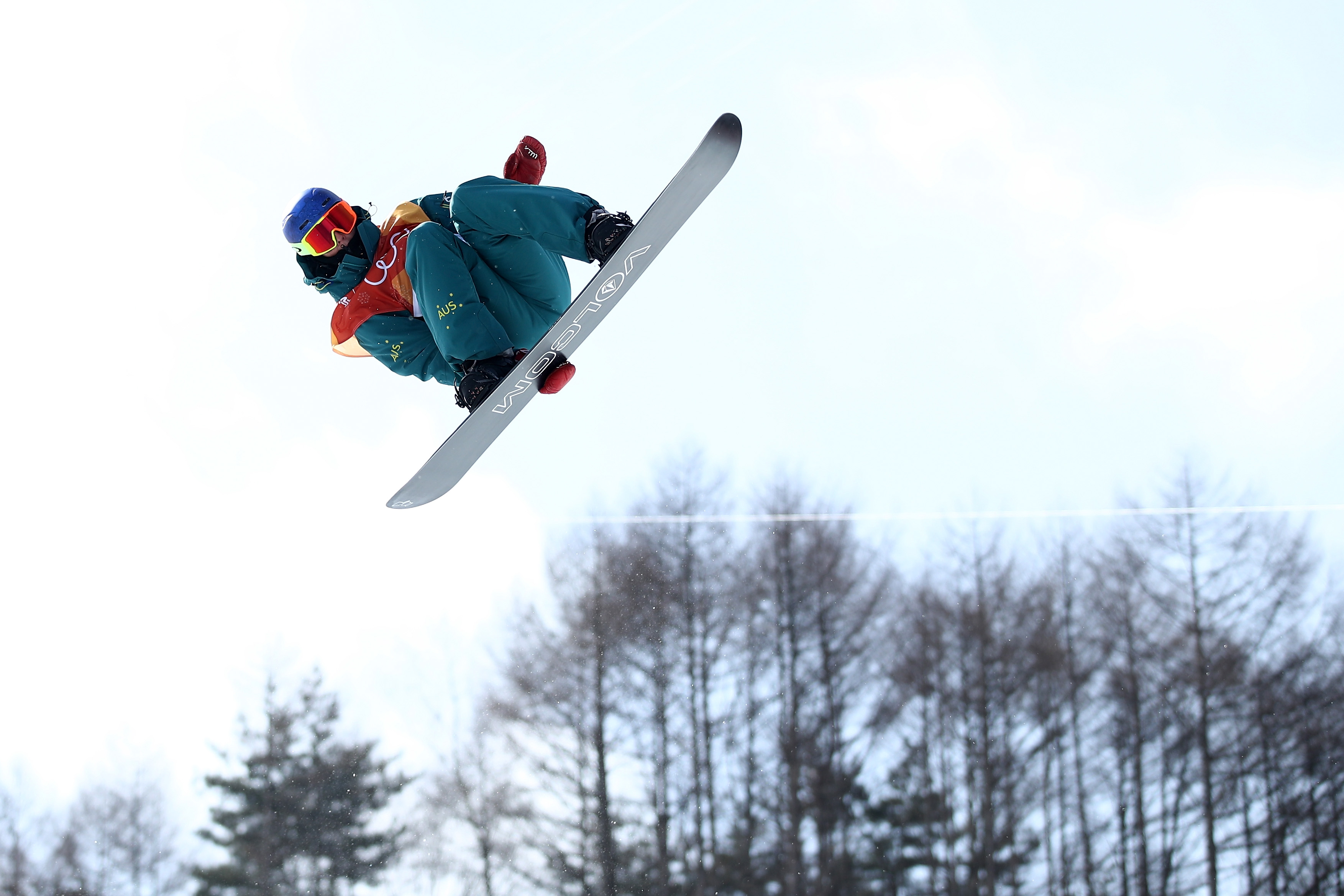 Scotty James of Australia competes during the Snowboard Men's Halfpipe Qualification on day four of the PyeongChang 2018 Winter Olympic Games in South Korea. Cameron Spencer—Getty Images