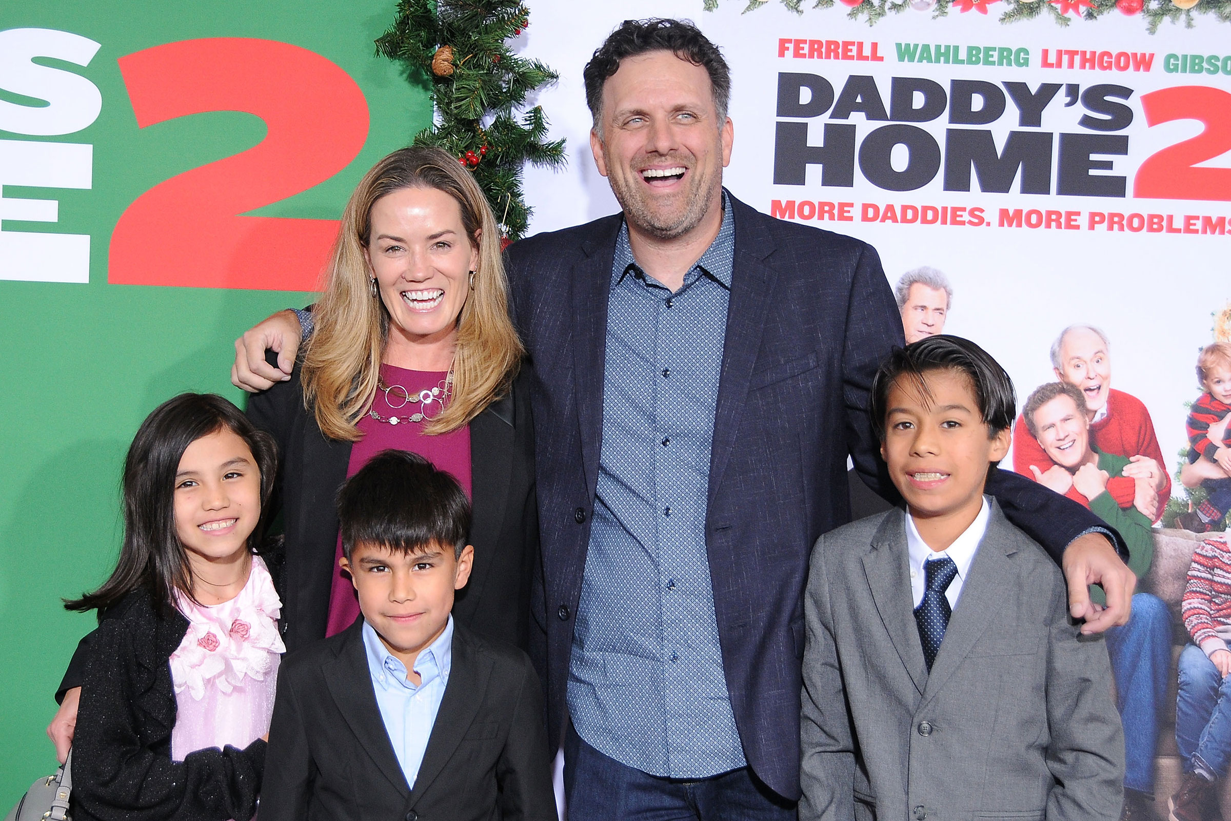 Director Sean Anders and family attend the premiere of Paramount Pictures' 'Daddy's Home 2' at Regency Village Theatre on November 5, 2017 in Westwood, California.