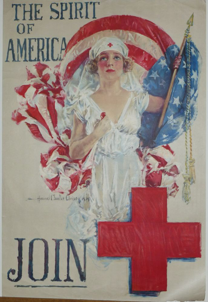 1917 Red Cross poster