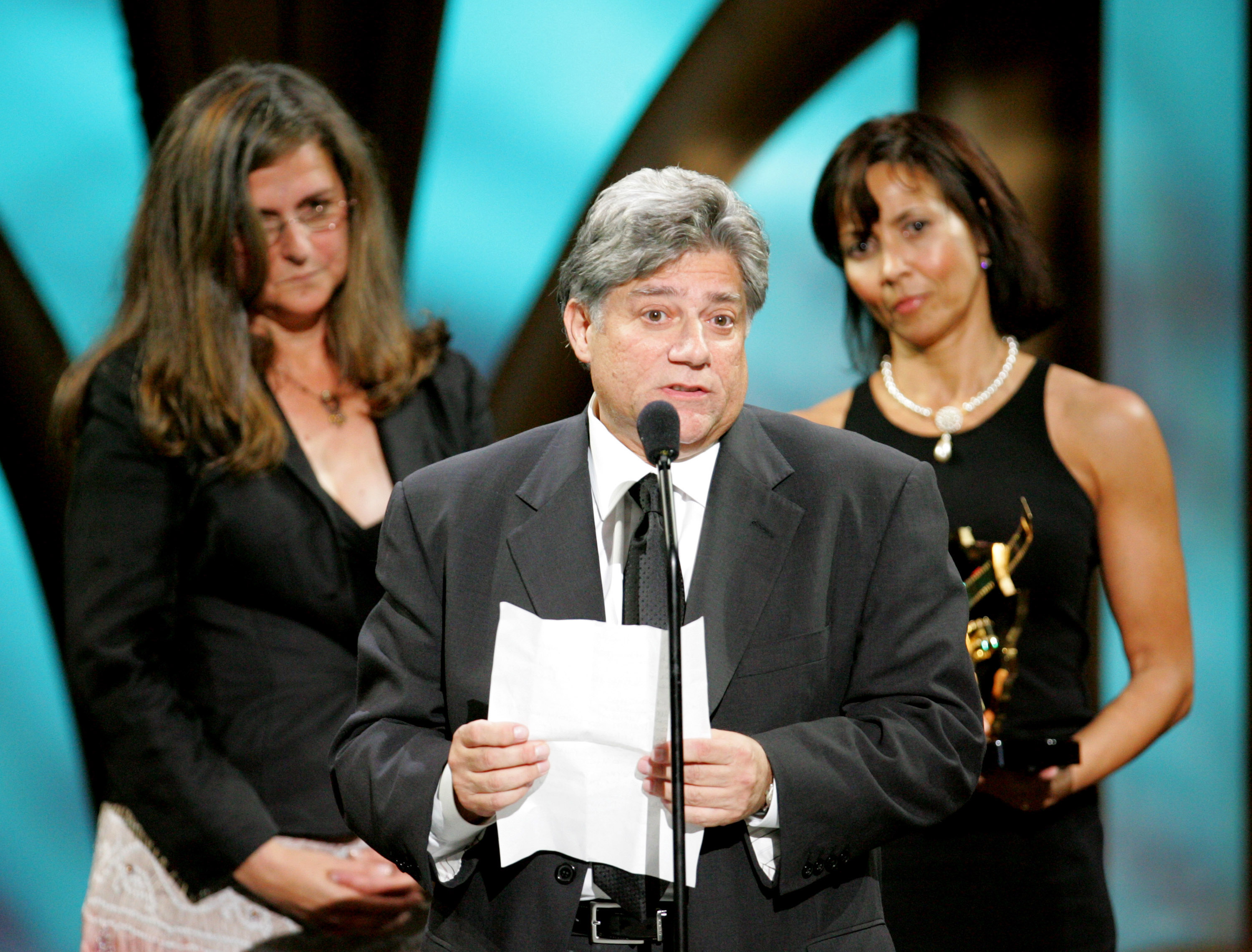 Vincent Cirrincione, Executive Producer (center) and fellow producers, winners of the award for Outstanding Television Movie for  Lackawanna Blues