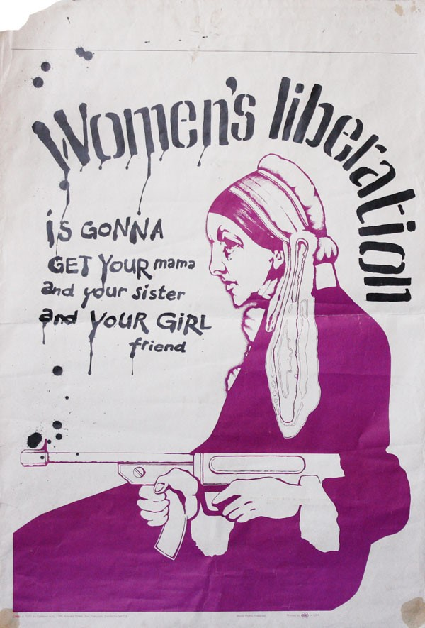 1971 women's liberation poster, parodying 'Whistler's Mother,' from Celestial Arts, San Francisco