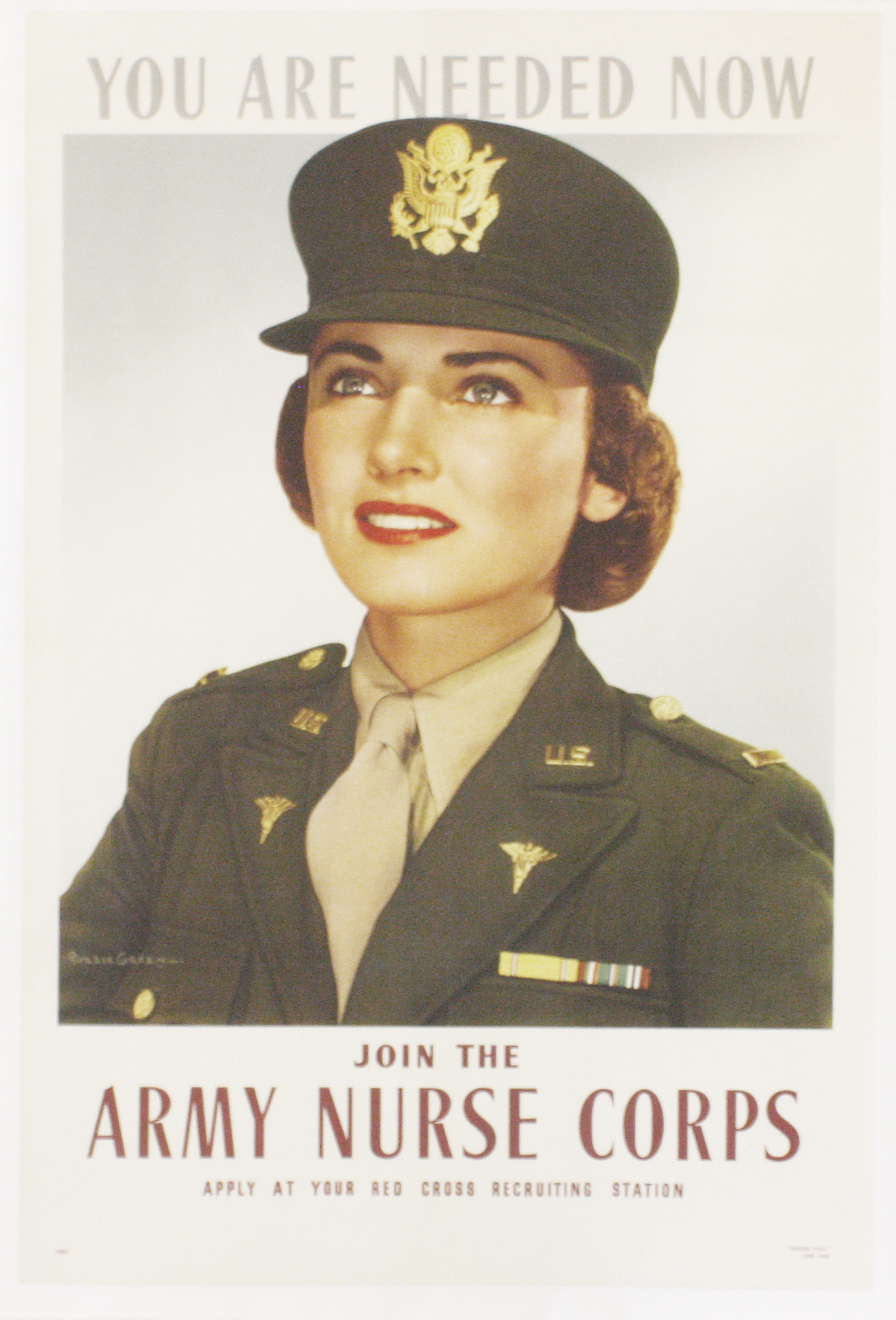 Army Nurse Corps poster from 1943