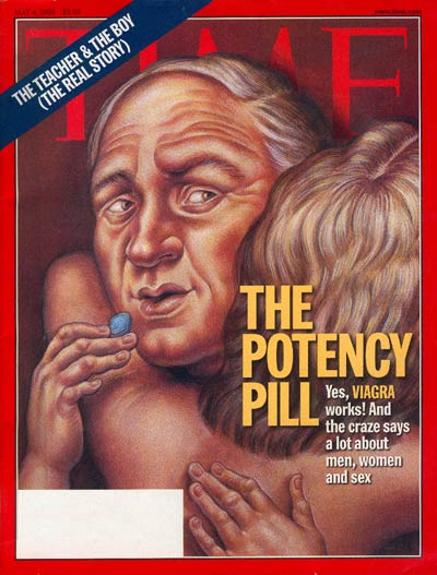The May 4, 1998, TIME cover came out shortly after the FDA approved the use of Viagra to treat ED.