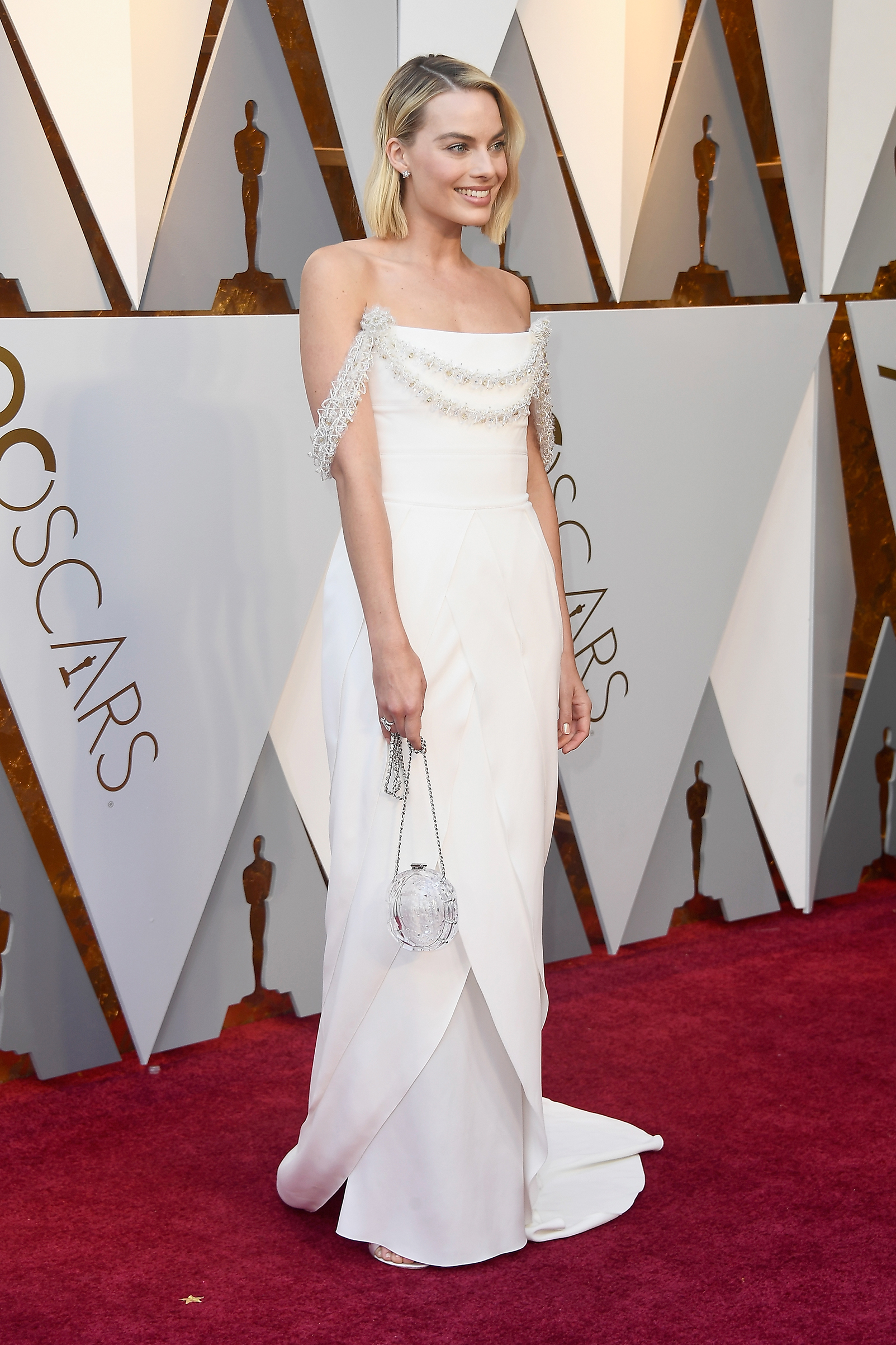 Margot Robbie attends the 90th Annual Academy Awards at Hollywood & Highland Center on March 4.