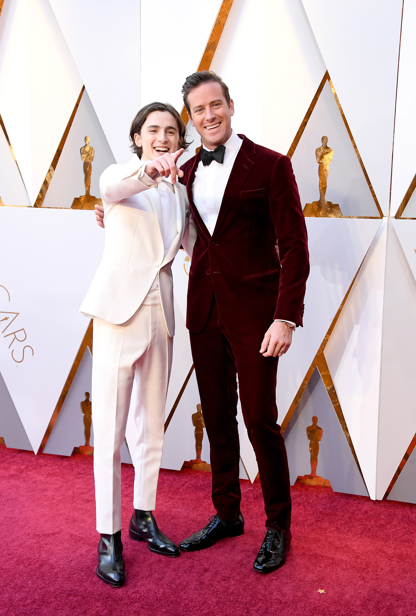 Timothee Chalamet and Armie Hammer attend the 90th Annual Academy Awards at Hollywood & Highland Center on March 4.