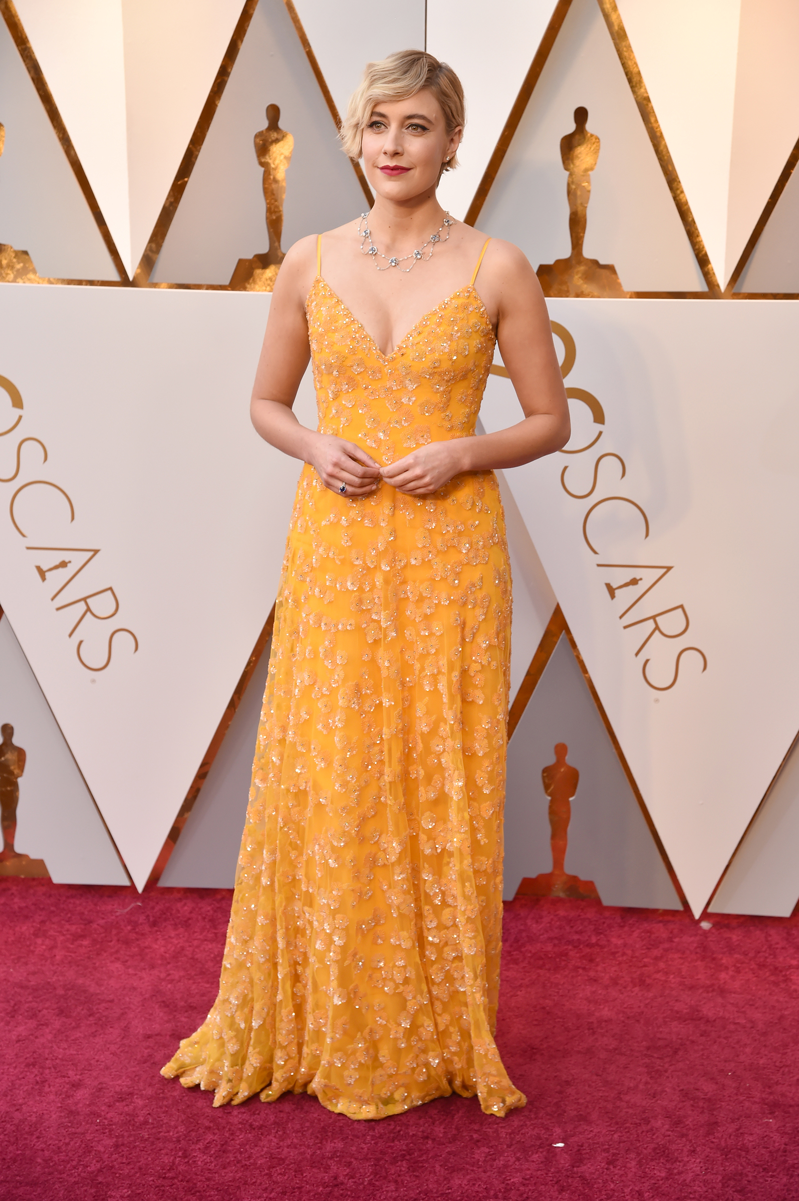Greta Gerwig attends the 90th Annual Academy Awards at Hollywood & Highland Center on March 4.
