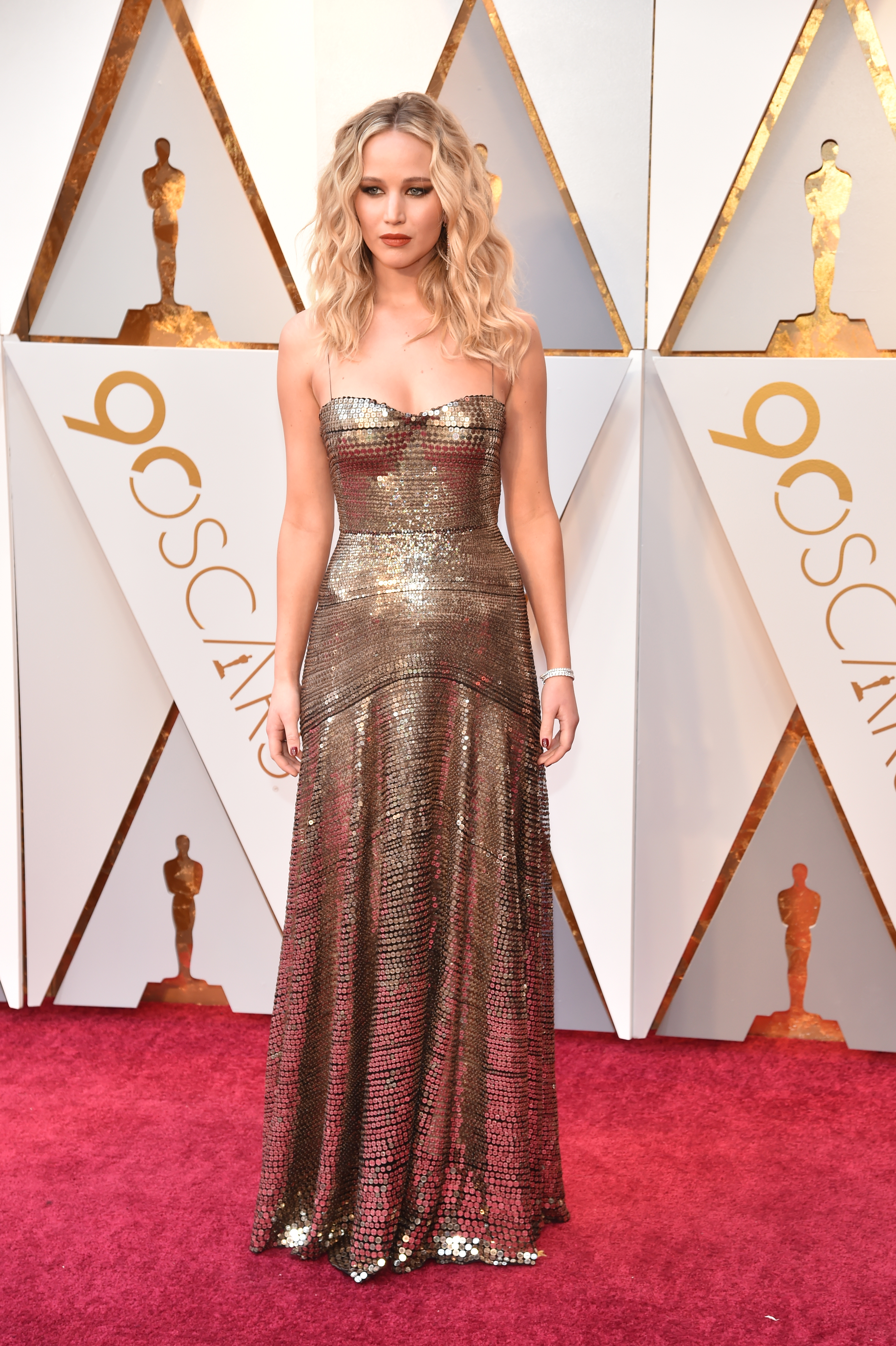 Jennifer Lawrence attends the 90th Annual Academy Awards at Hollywood & Highland Center on March 4.