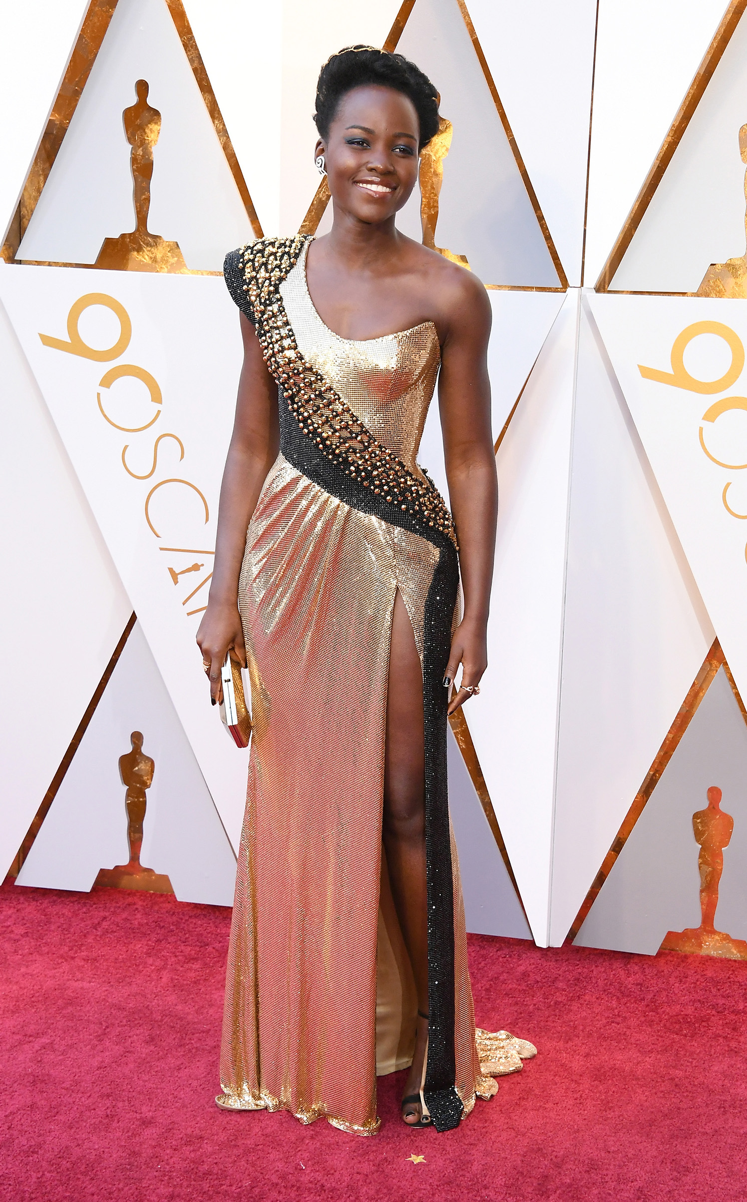 Lupita Nyong'o attends the 90th Annual Academy Awards at Hollywood & Highland Center on March 4.