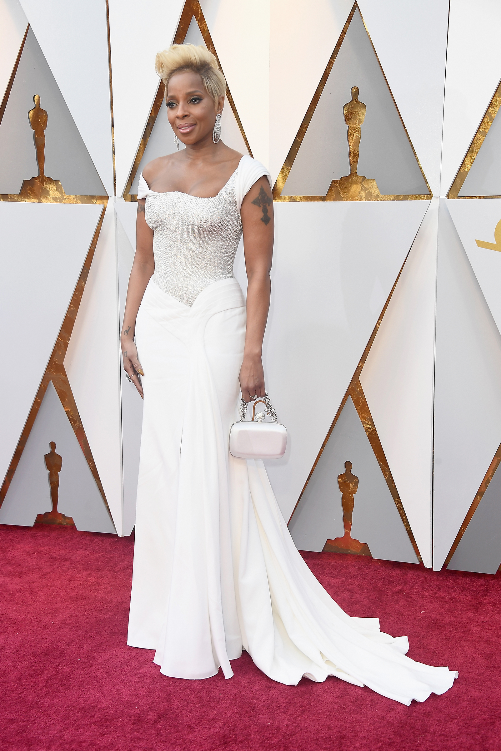 Mary J. Blige attends the 90th Annual Academy Awards at Hollywood & Highland Center on March 4.