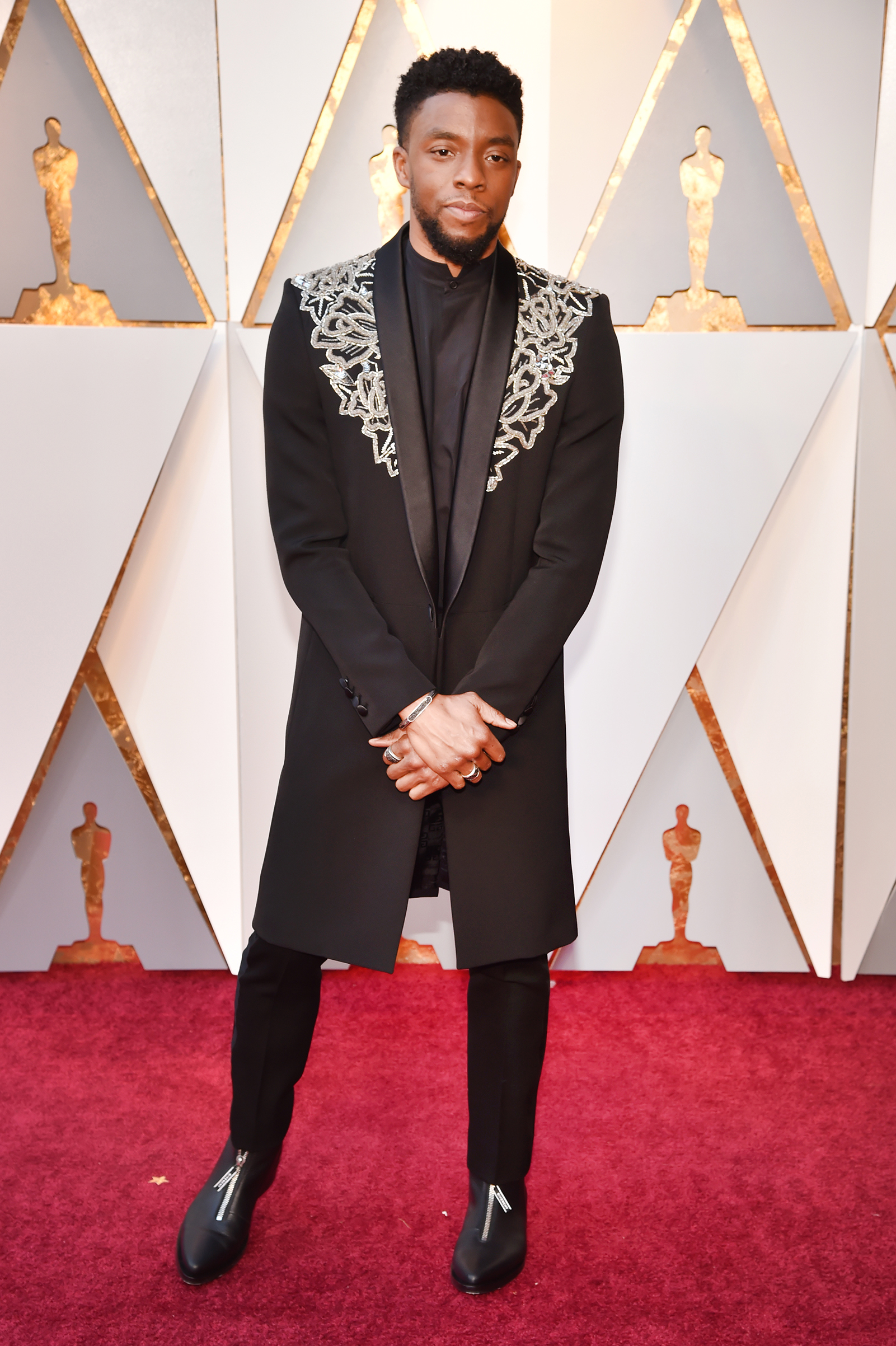 Chadwick Boseman attends the 90th Annual Academy Awards at Hollywood & Highland Center on March 4.