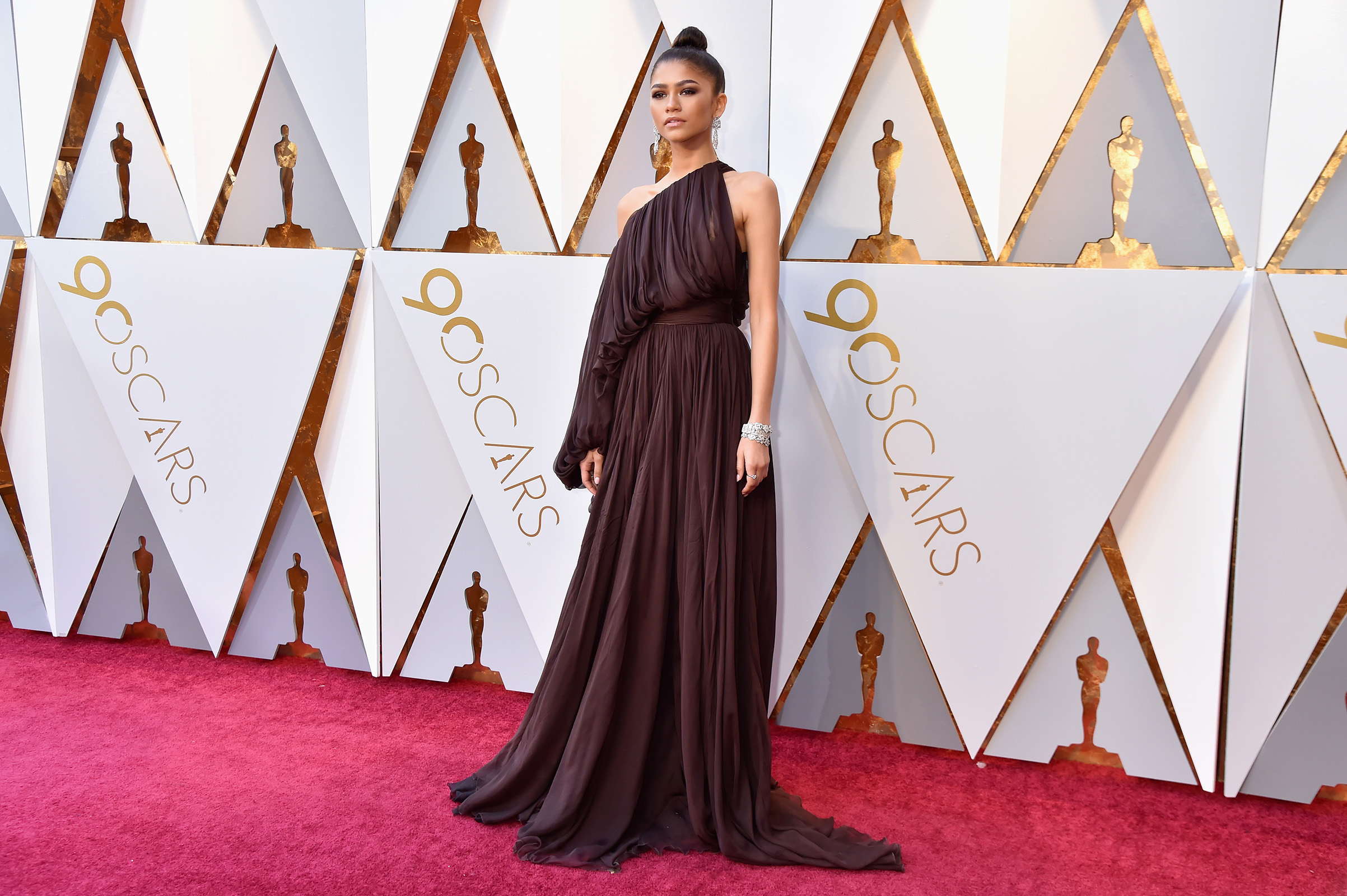 Zendaya attends the 90th Annual Academy Awards at Hollywood & Highland Center on March 4.