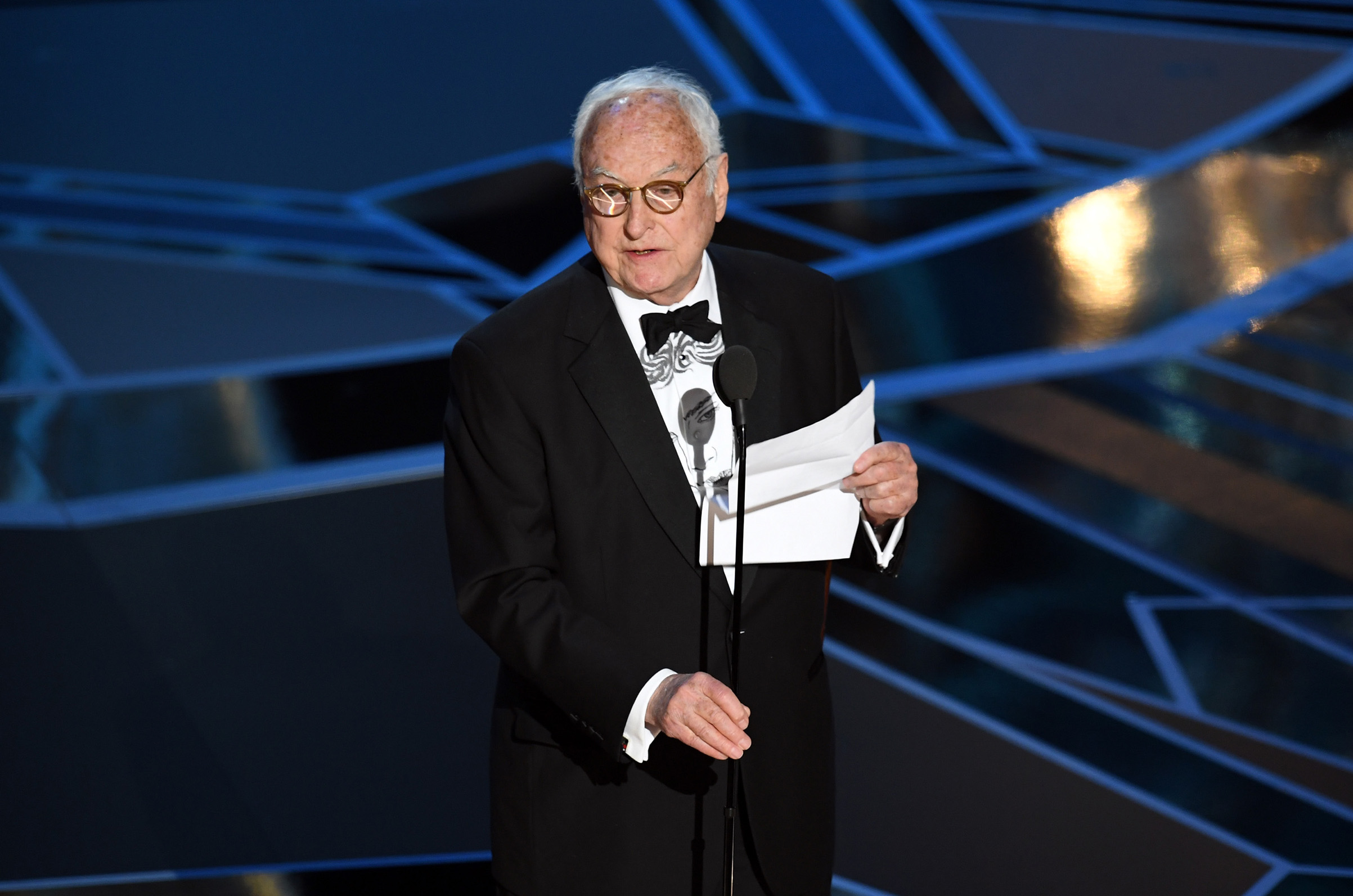 Screenwriter James Ivory accepts Best Adapted Screenplay for 'Call Me by Your Name' onstage during the 90th Annual Academy Awards at the Dolby Theatre at Hollywood & Highland Center on March 4, 2018 in Hollywood.