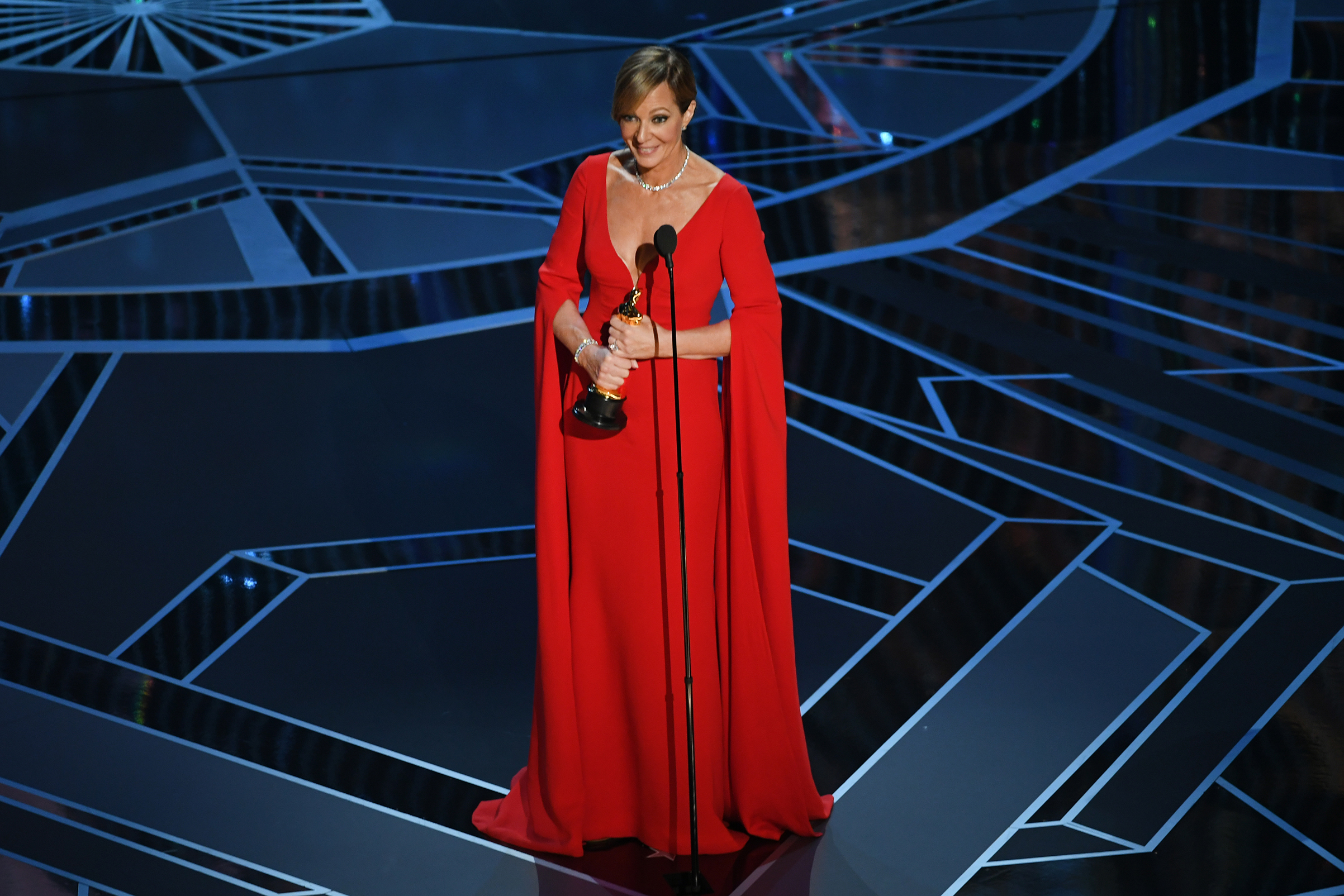 Actor Allison Janney accepts Best Supporting Actress for 'I, Tonya' onstage during the 90th Annual Academy Awards at the Dolby Theatre at Hollywood & Highland Center on March 4, 2018 in Hollywood.
