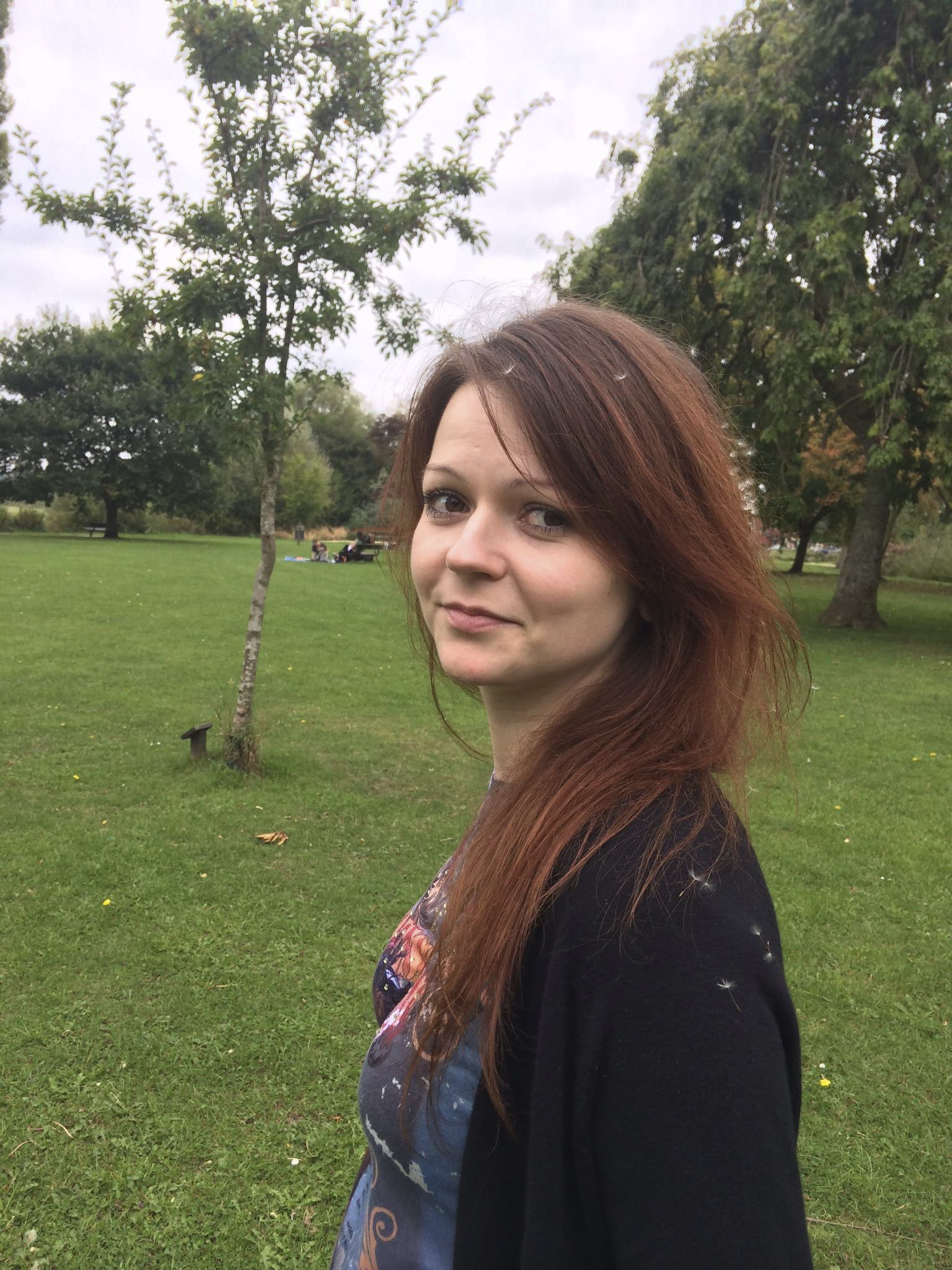 Yulia Skripal the daughter of former Russian Spy Sergei Skripal, is seen on a photo taken from her Facebook account.