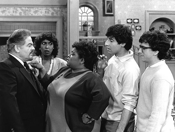Reuven Bar-Yotam, Telma Hopkins, Nell Carter, Harry Basil and Brian Backer appear in Gimme A Break!, aired on May 10, 1986.