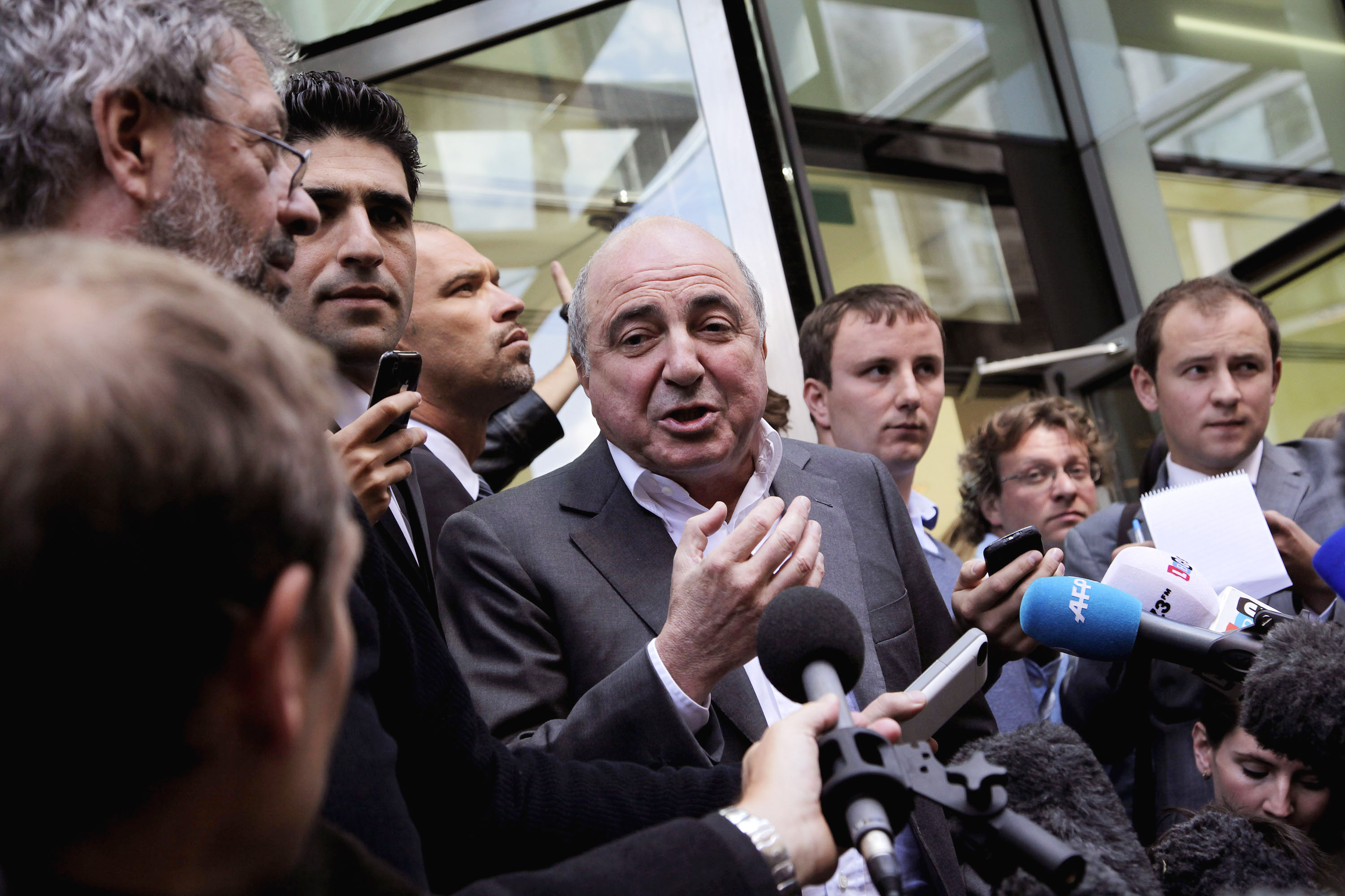 Boris Berezovsky addresses the media outside the Royal Courts of Justice after losing his lawsuit against Chelsea FC owner Roman Abramovich on August 31, 2012 in London, England. Berezovsky sued Abramovich for billions of pounds, claiming he was  intimidated  into selling shares in oil group Sibneft at below market value.