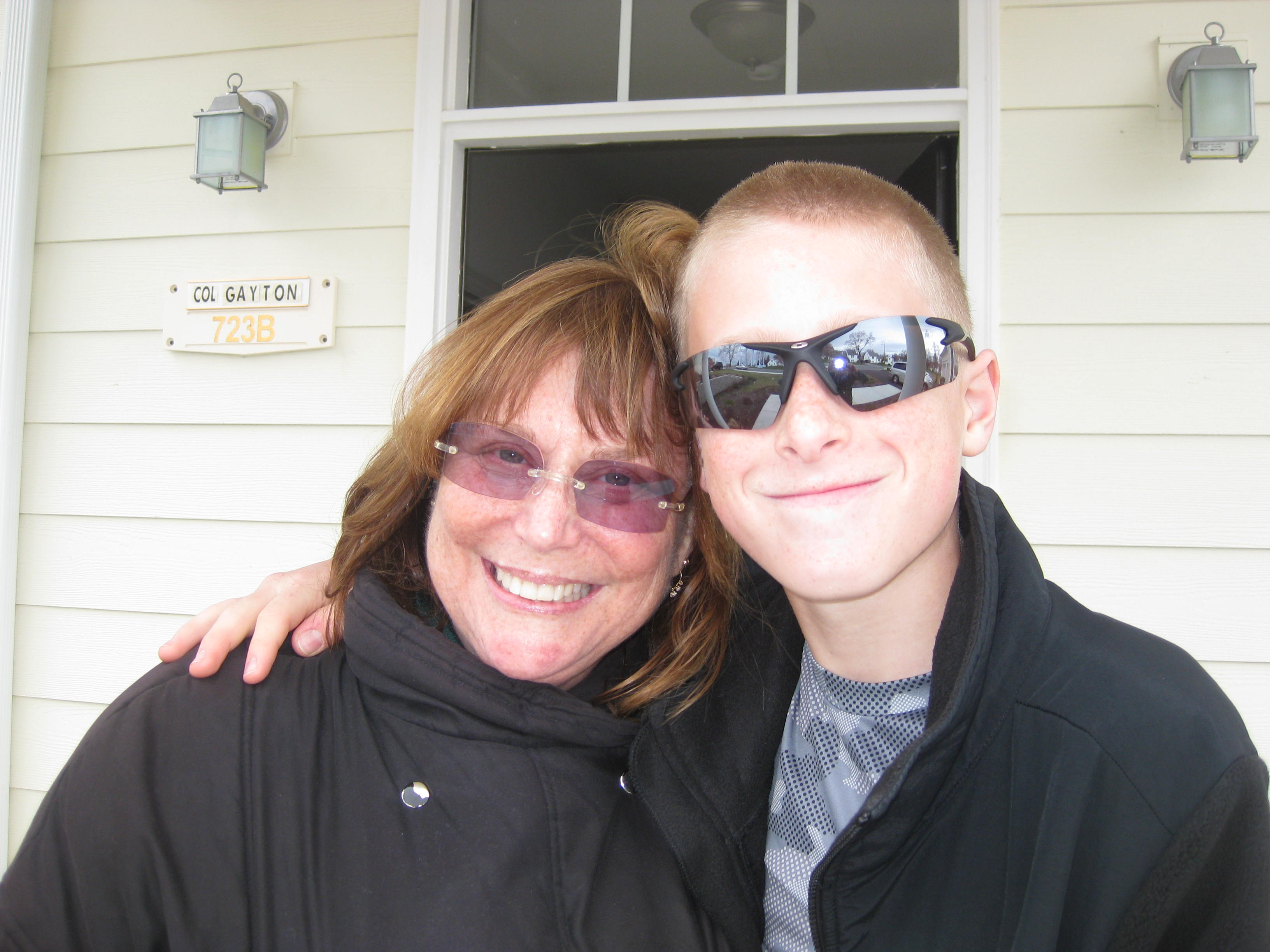 Judy Rogg (l) and her son Erik on March 31, 2010