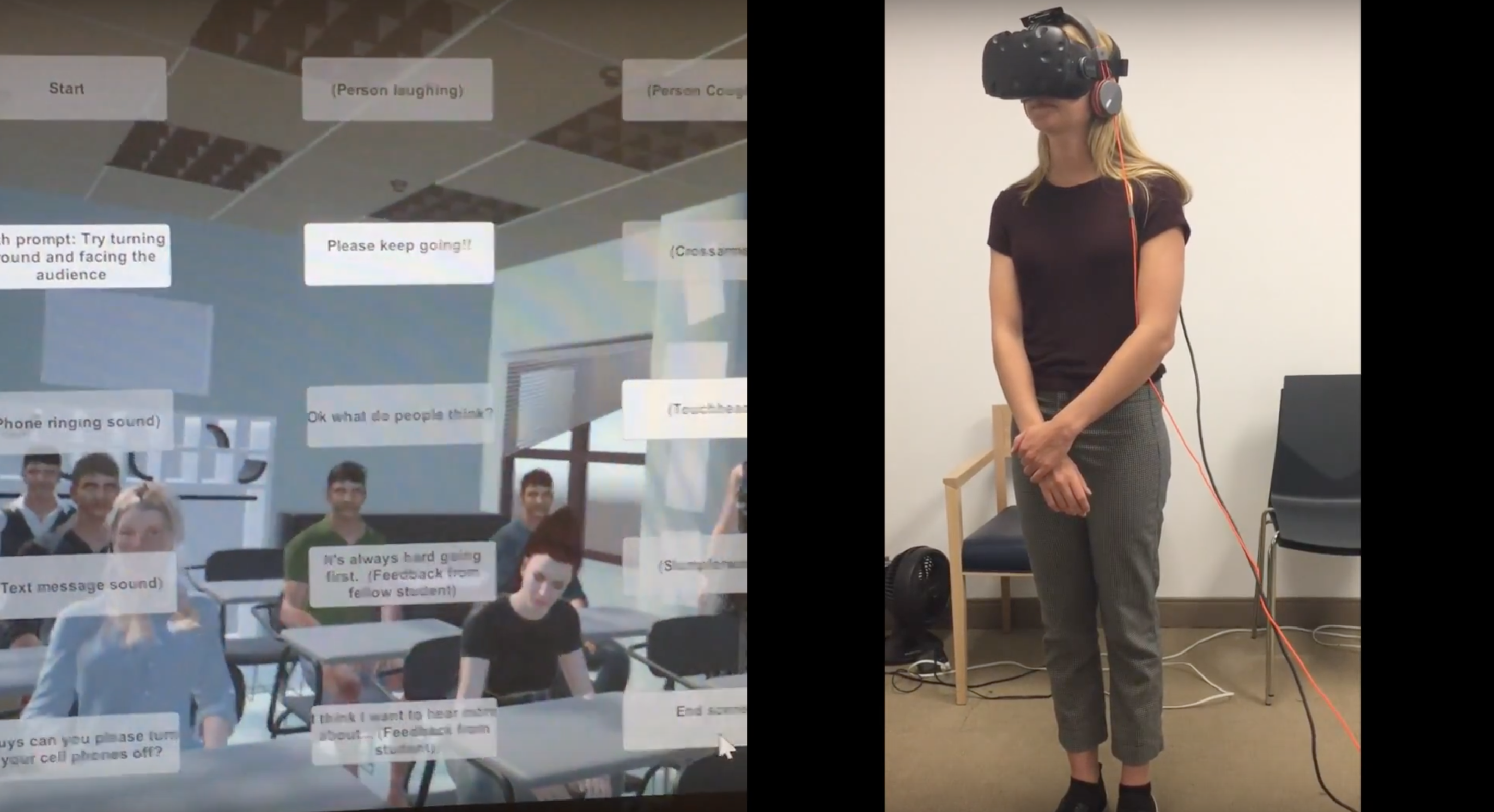 This virtual reality program — developed by Headset Health in partnership with the Columbia University Clinic for Anxiety and Related Disorders — allows students to confront their anxiety in a simulated college scenario.