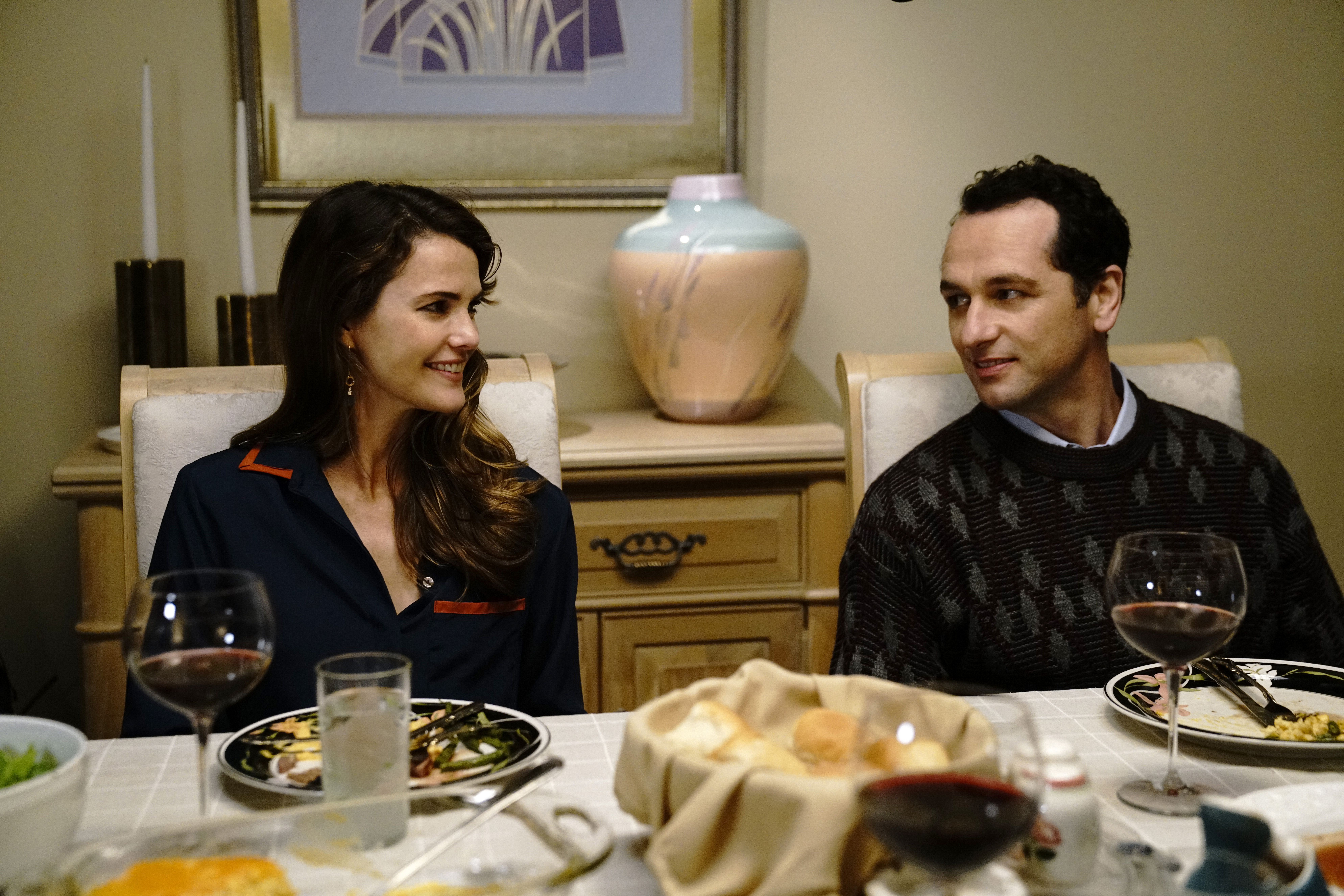 Keri Russell as Elizabeth Jennings, and Matthew Rhys as Philip Jennings in 'The Americans' on FX.