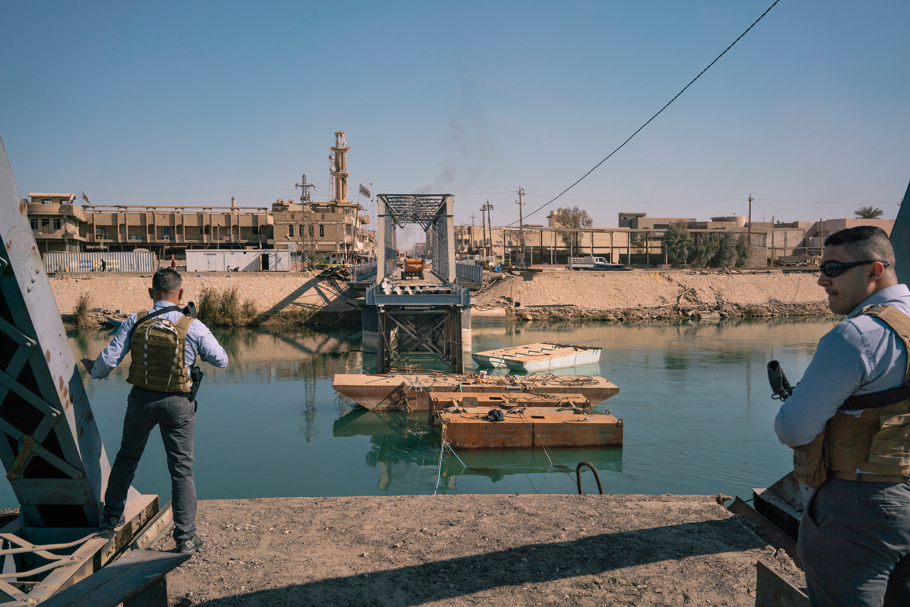 A bridge in Fallujah that was destroyed in a fierce battle between Iraqi forces and ISIS, seen here on Feb. 1.