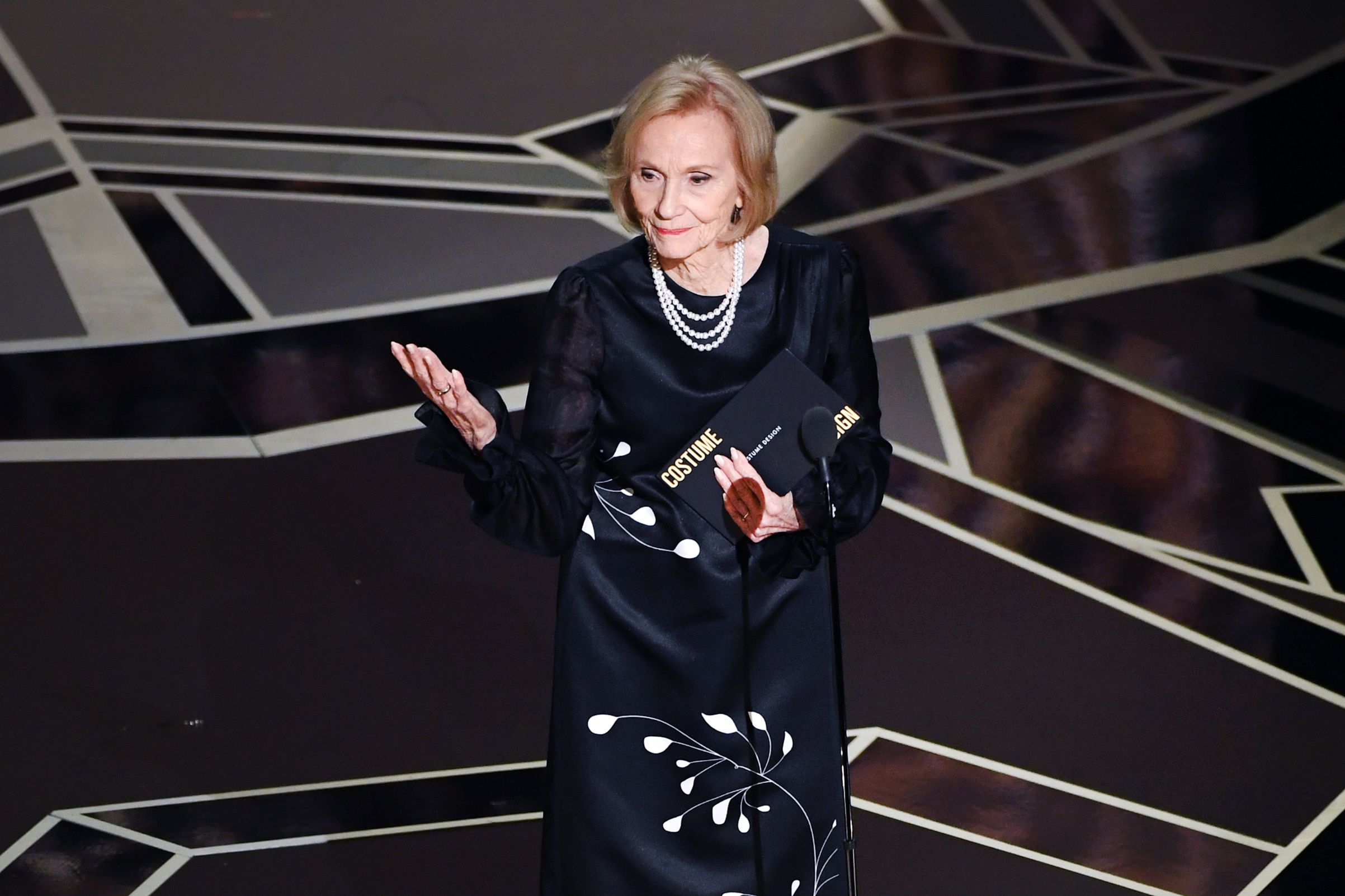 Actor Eva Marie Saint speaks onstage during the 90th Annual Academy Awards at the Dolby Theatre at Hollywood & Highland Center on March 4, 2018 in Hollywood.