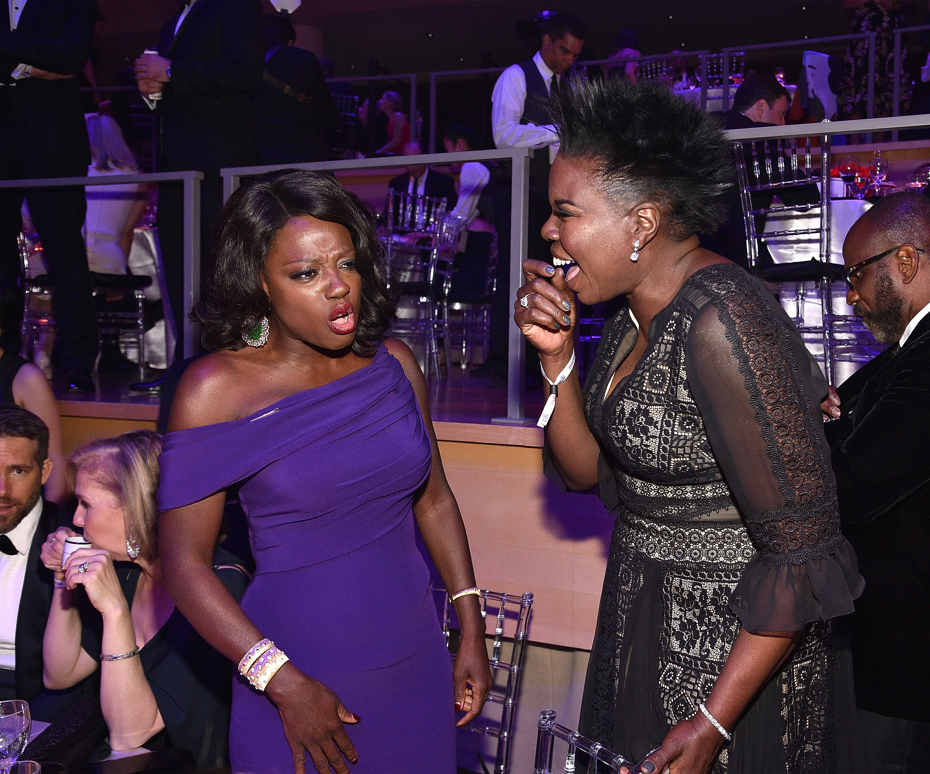 NEW YORK, NY - APRIL 25:  Viola Davis and Leslie Jones attend 2017 Time 100 Gala at Jazz at Lincoln Center on April 25, 2017 in New York City.  (Photo by Kevin Mazur/Getty Images for TIME)