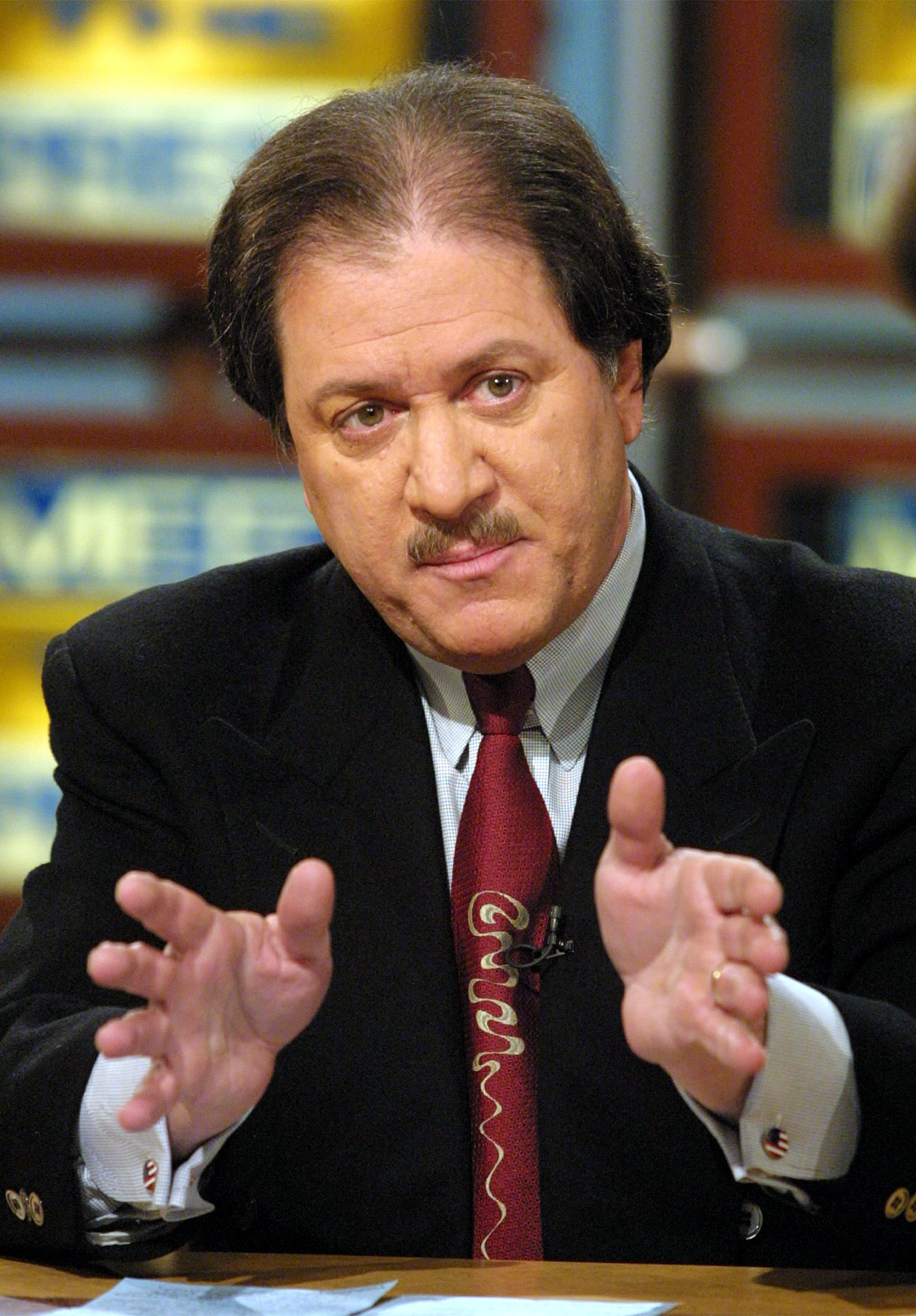 Joseph diGenova, attorney for Jack Quinn, discusses former president Bill Clinton's pardon of fugitive financier Marc Rich on  Meet the Press  February 11, 2001 at the NBC studio in Washington, D. C.