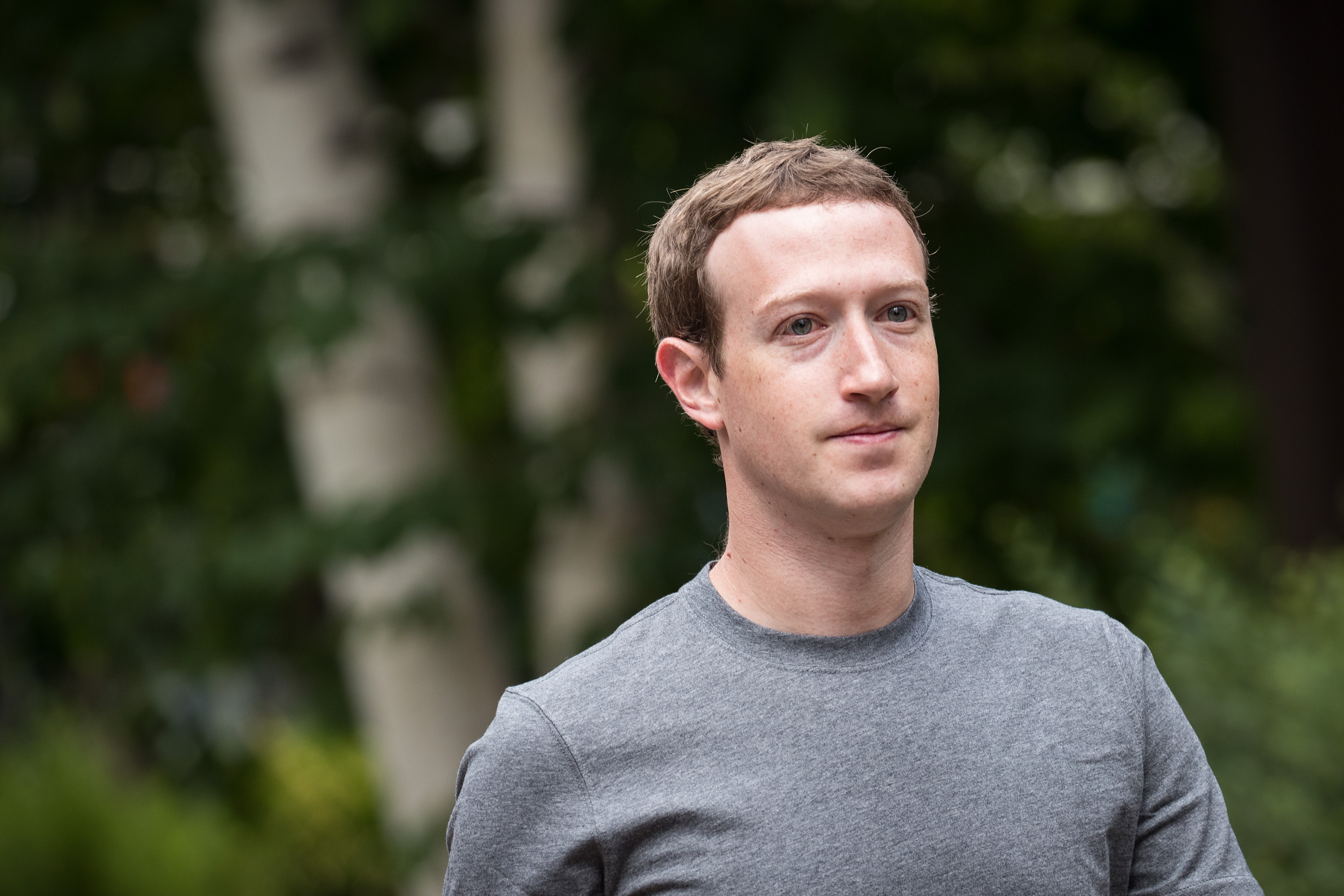 Mark Zuckerberg, chief executive officer and founder of Facebook on July 14, 2017 in Sun Valley, Idaho.