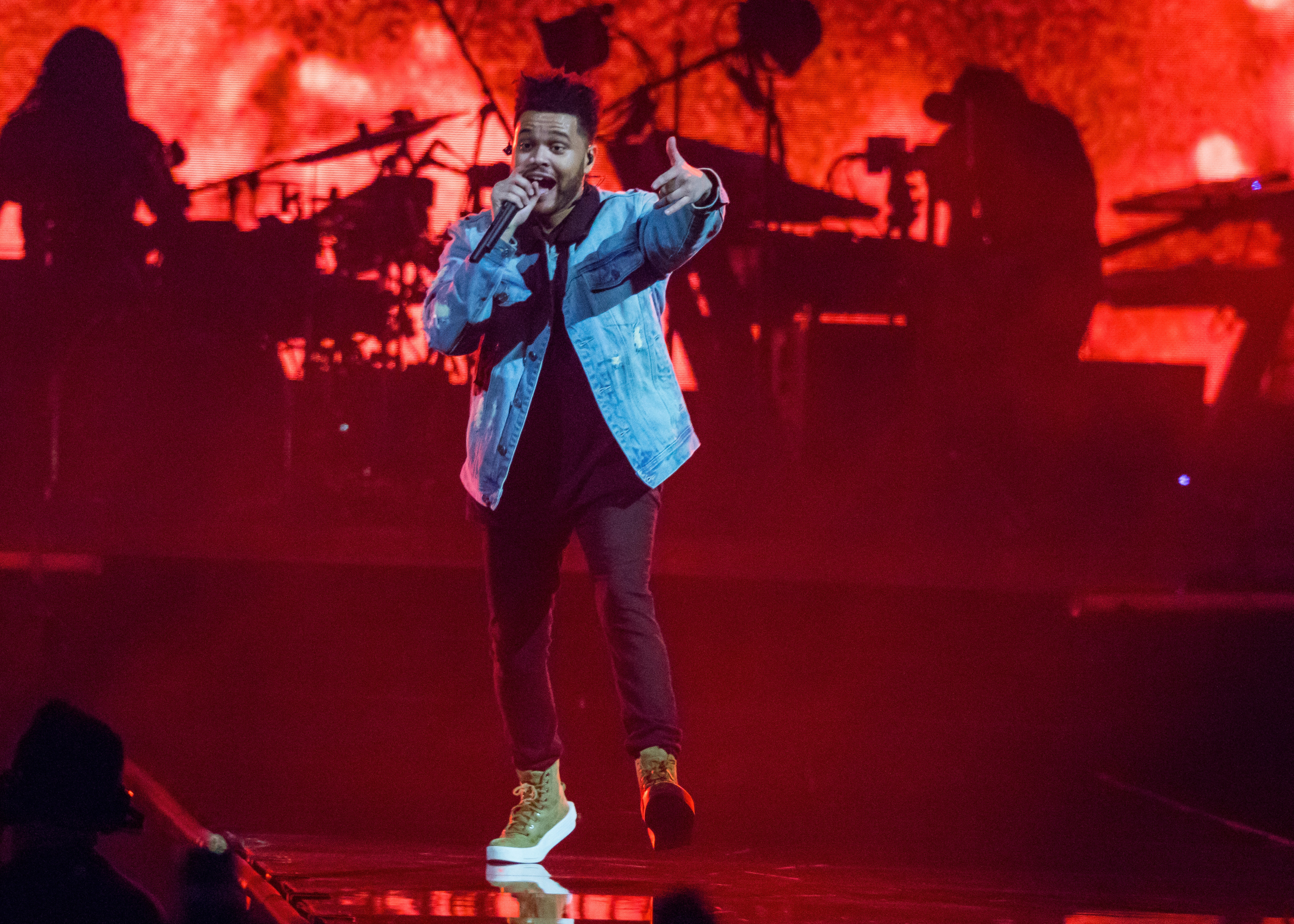 Singer Abel Tesfaye, known by his stage name The Weeknd, performs on Nov. 1, 2017 in Detroit, Michigan.