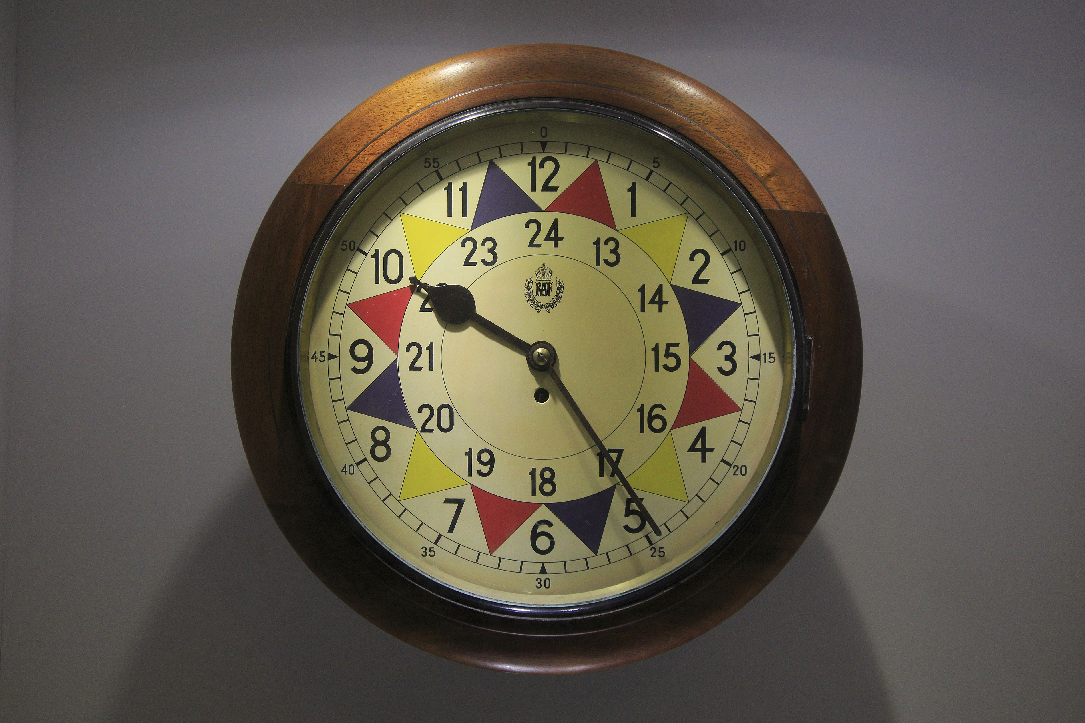 RAF sector clock Lascaris War Rooms underground museum, Valletta, Malta. (Photo by: Geography Photos/UIG via Getty Images)