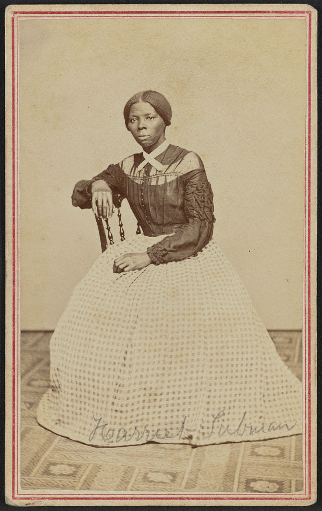 A previously unknown portrait of Harriet Tubman,  conductor  of the Underground Railroad.