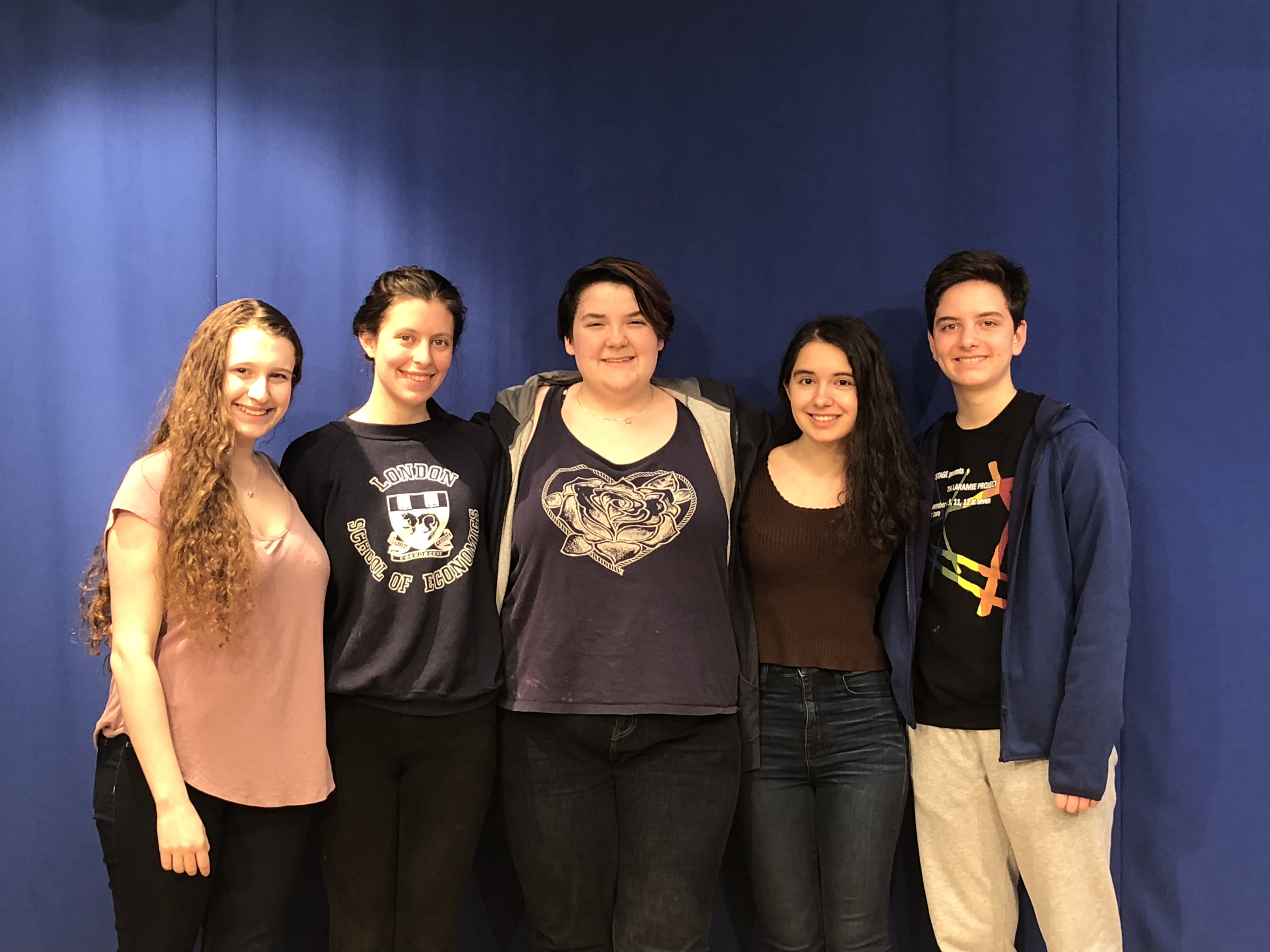 These young activists have organized a home-sharing network in Maryland to help their out-of-town peers find places to stay during the March For Our Lives demonstration in Washington, D.C. on March 24, 2018. From left to right: Michaela Hoenig, Kate Lebrun, Mai Canning, Gabrielle Zwi and Emiliano Calvo Alcaniz
