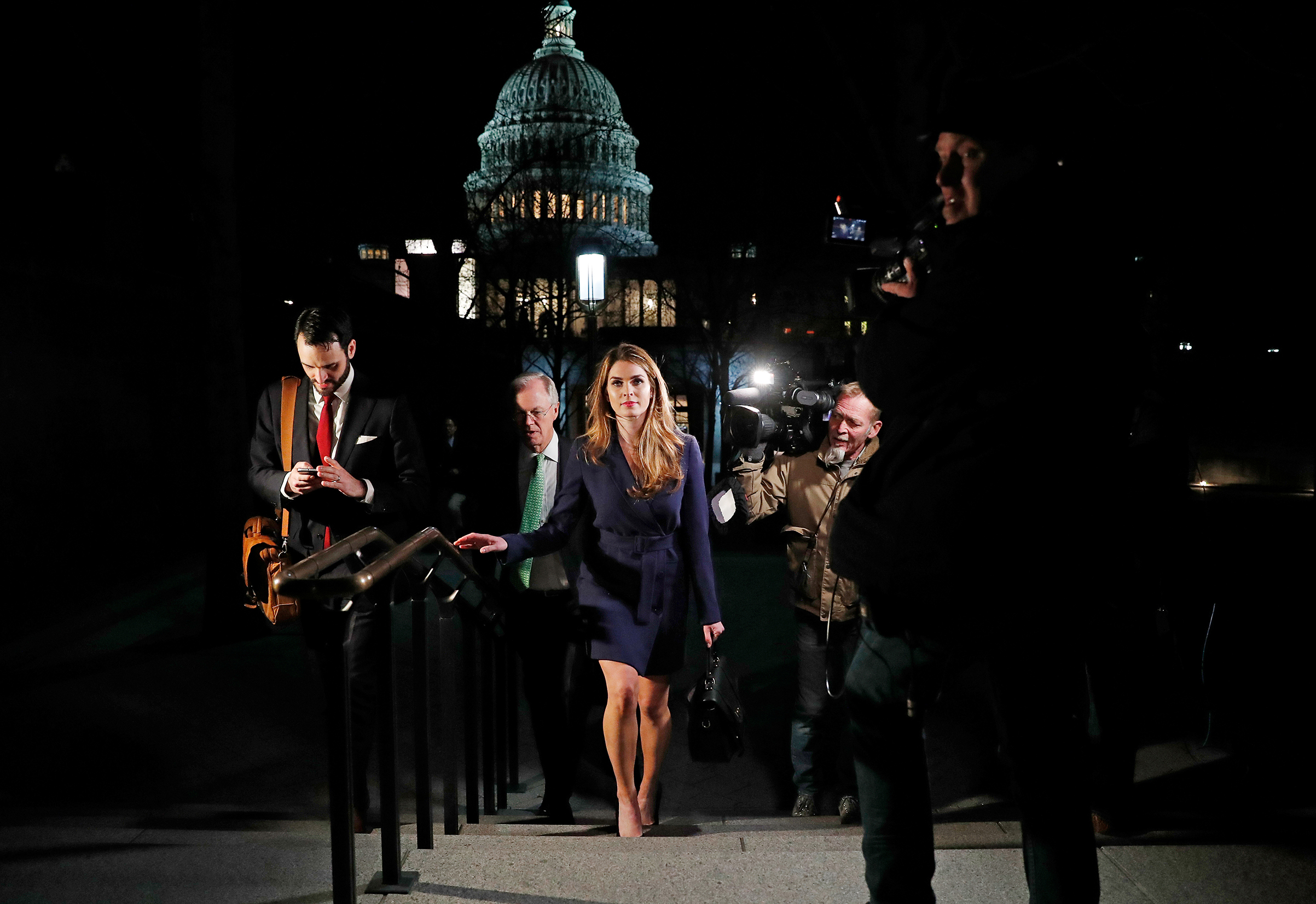 White House Communications Director Hope Hicks leaves the U.S. Capitol in Washington on Feb. 27, 2018.