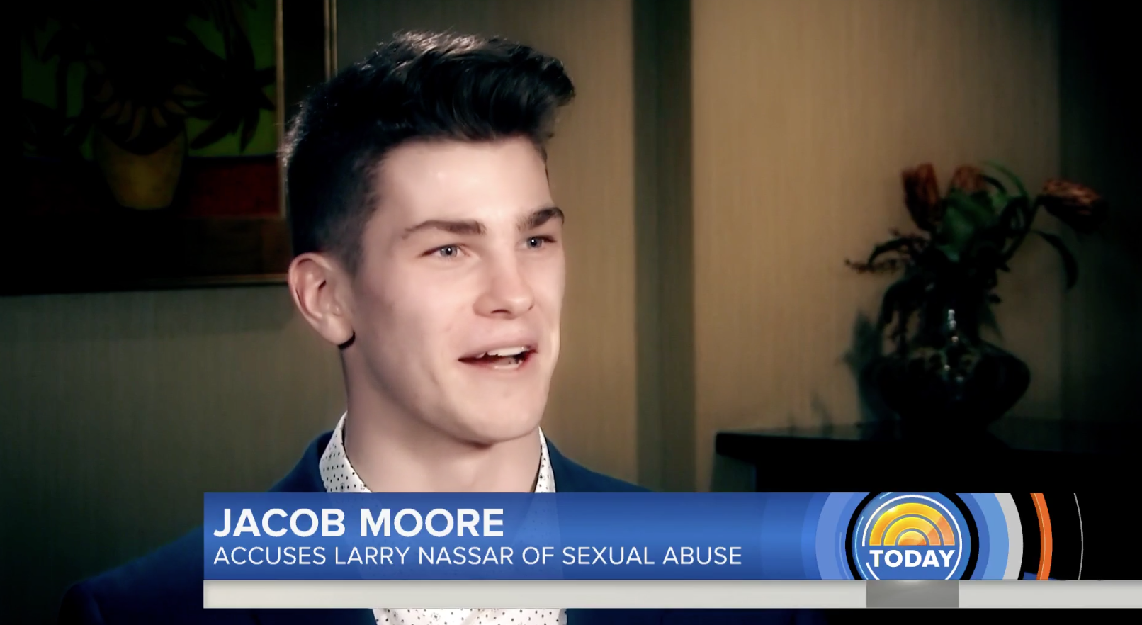 Jacob Moore, the first male gymnast to accuse former USA Gymnastics doctor Larry Nassar of sexual abuse, spoke out to NBC's Today show