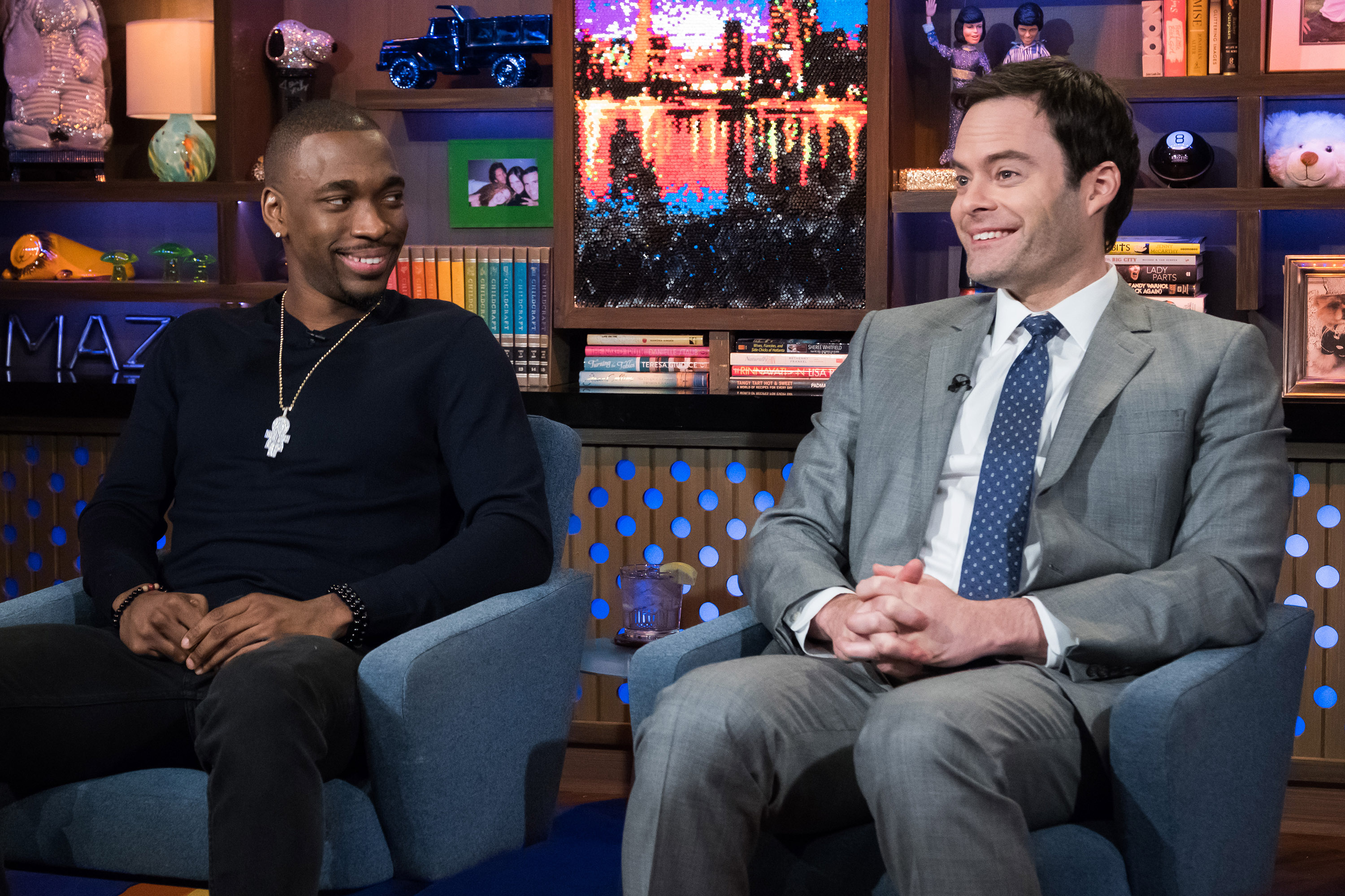 Jay Pharoah and Bill Hader on Watch What Happens Live with Andy Cohen