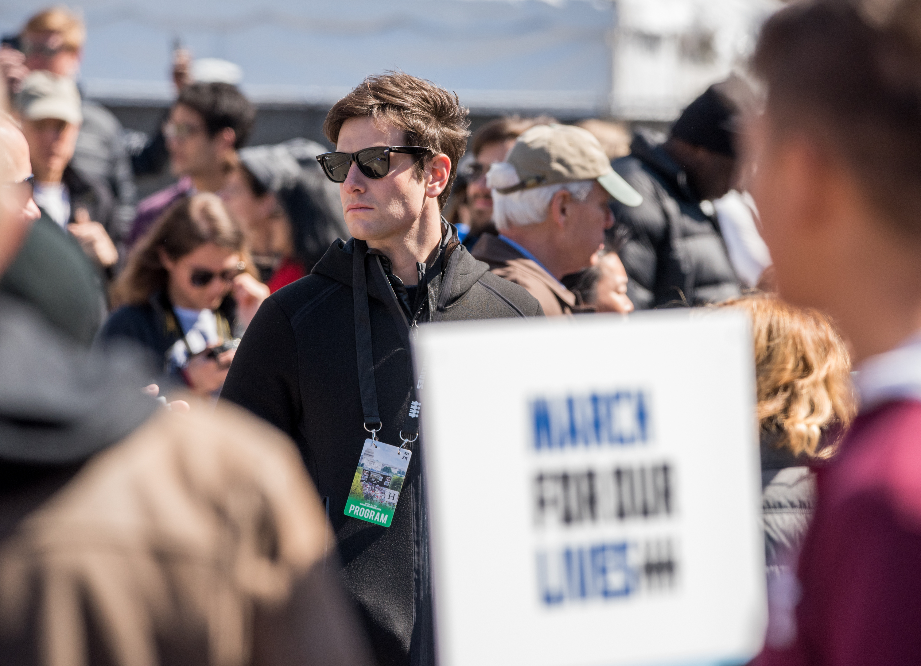 Joshua Kushner is seen during March For Our Lives on March 24, 2018 in Washington, DC.