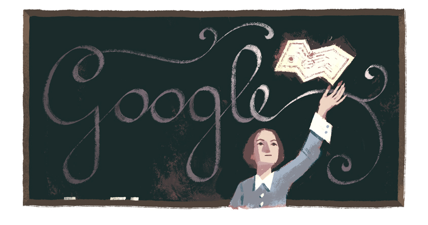 Google's March 26 Doodle celebrates the 194th birthday of Julie-Victoire Daubié, a French journalist and the first woman in her country to obtain a bachelor's degree.