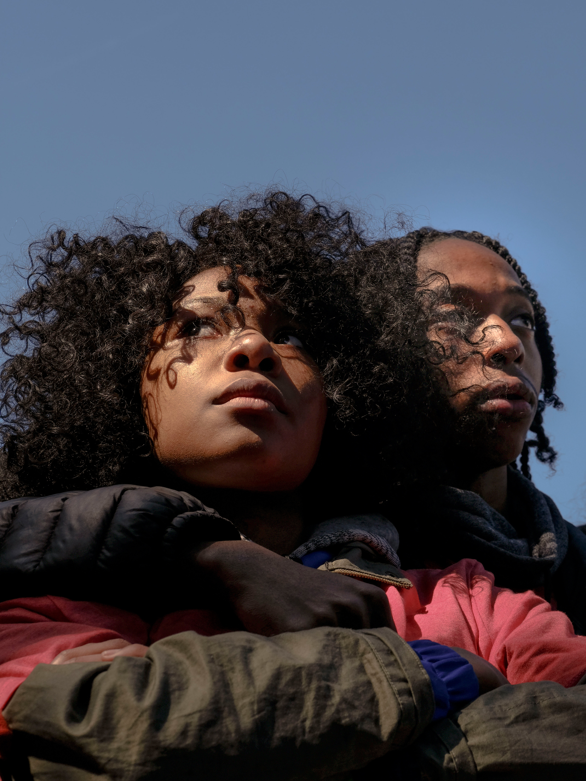 Jada Wright, 17, and Carl Payne, 18, from Eastern Senior High School in D.C.