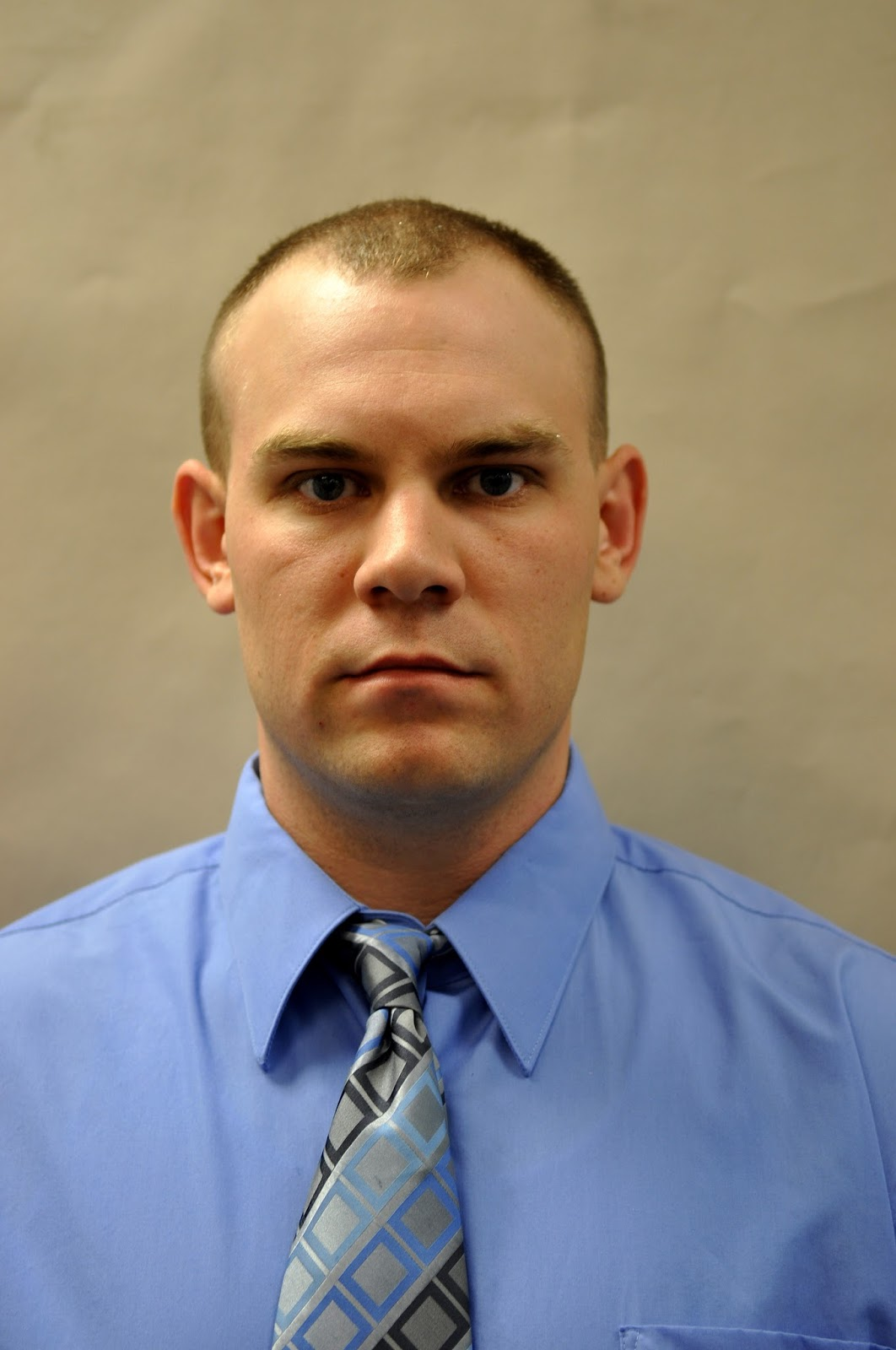 Deputy First Class Blaine Gaskill, a school resource officer at Great Mills High School in Maryland.