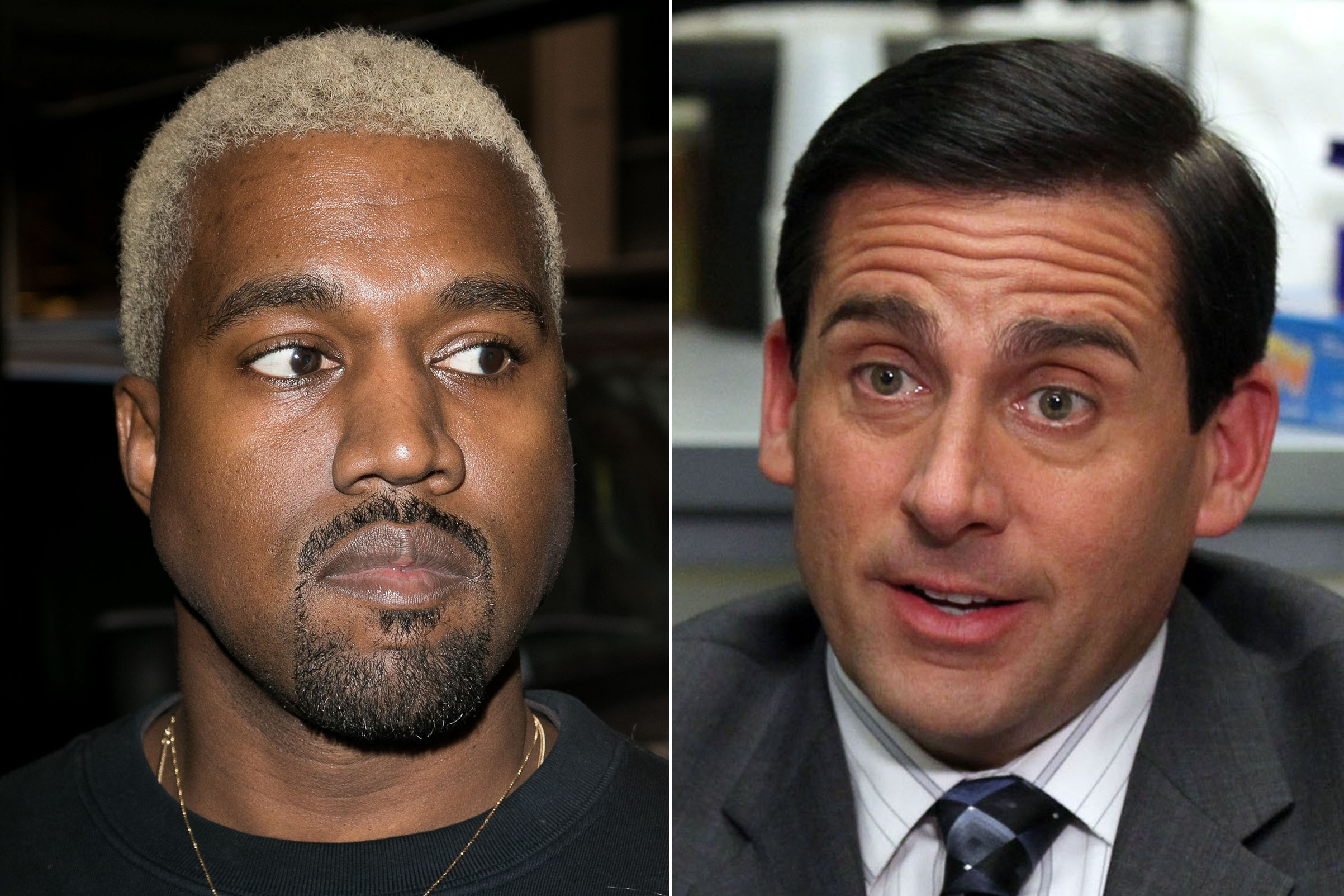 Kanye West and Michael Scott from 'The Office'