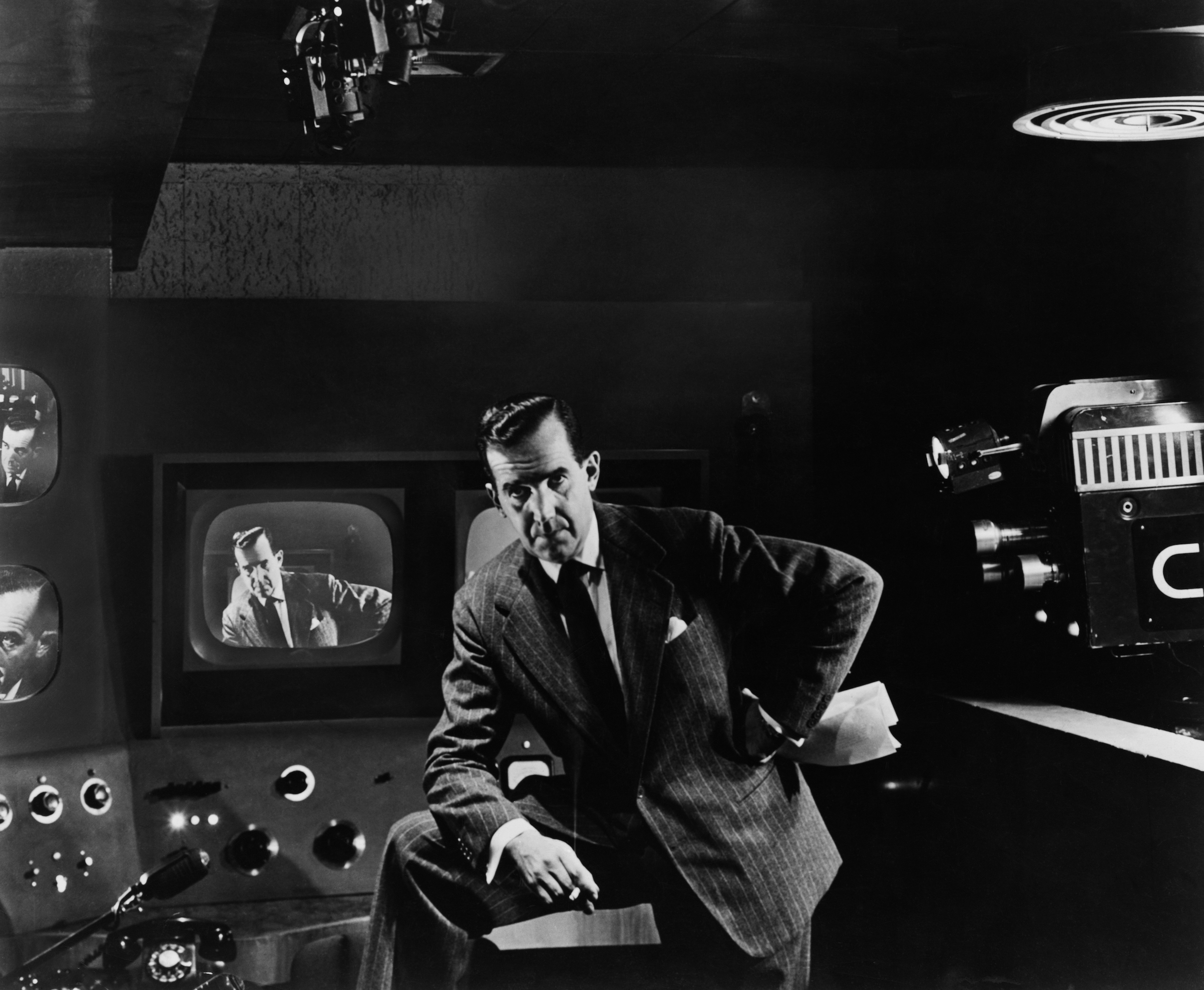 Edward Murrow as the host of 'See It Now' in the 1950s.