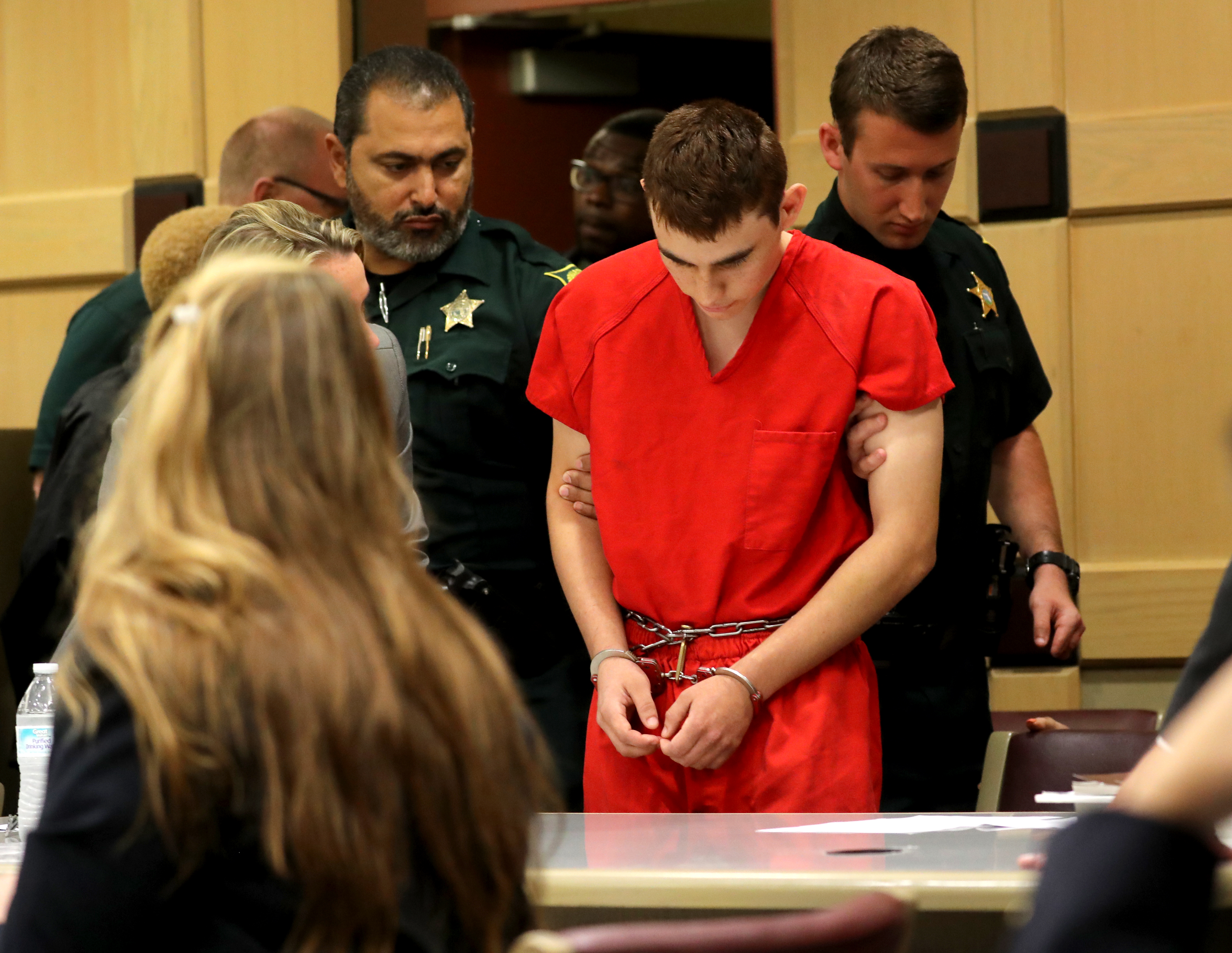 FT. LAUDERDALE - FEBRUARY 19: Nikolas Cruz appears in court for a status hearing before Broward Circuit Judge Elizabeth Scherer on February 19, 2018 in Ft. Lauderdale, Florida. (Photo by Mike Stocker-Pool/Getty Images)